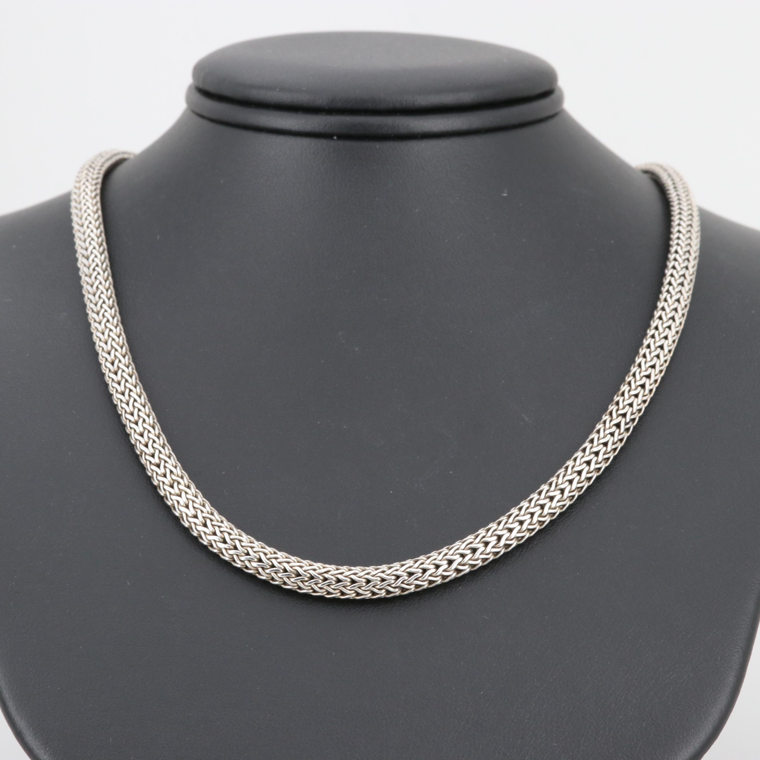 "John Hardy ""Classic"" Sterling Silver Necklace"