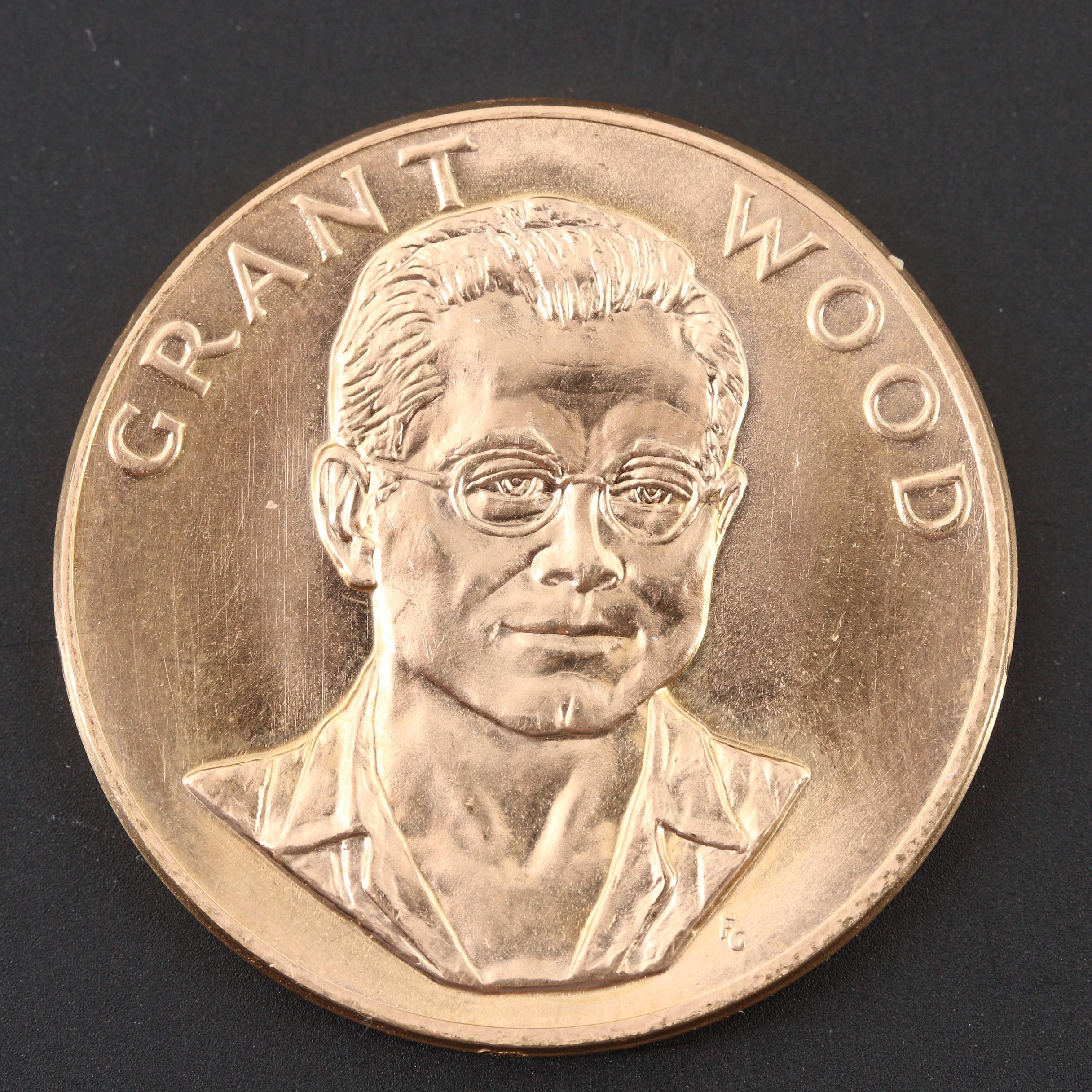 1980 American Commemorative Arts Gold Medal Celebrating Grant Woods