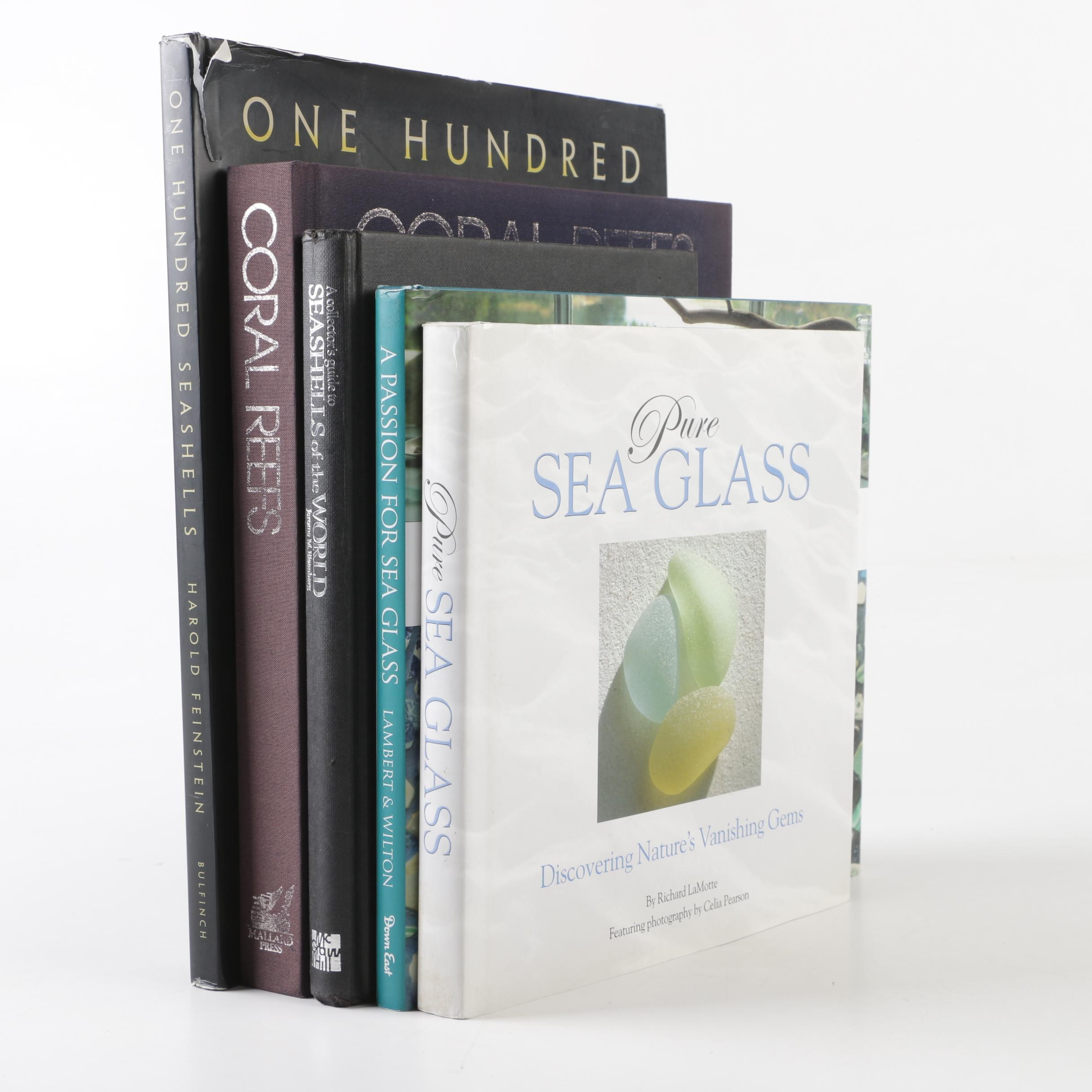 Sea Glass, Coral Reef and Sea Shell Books