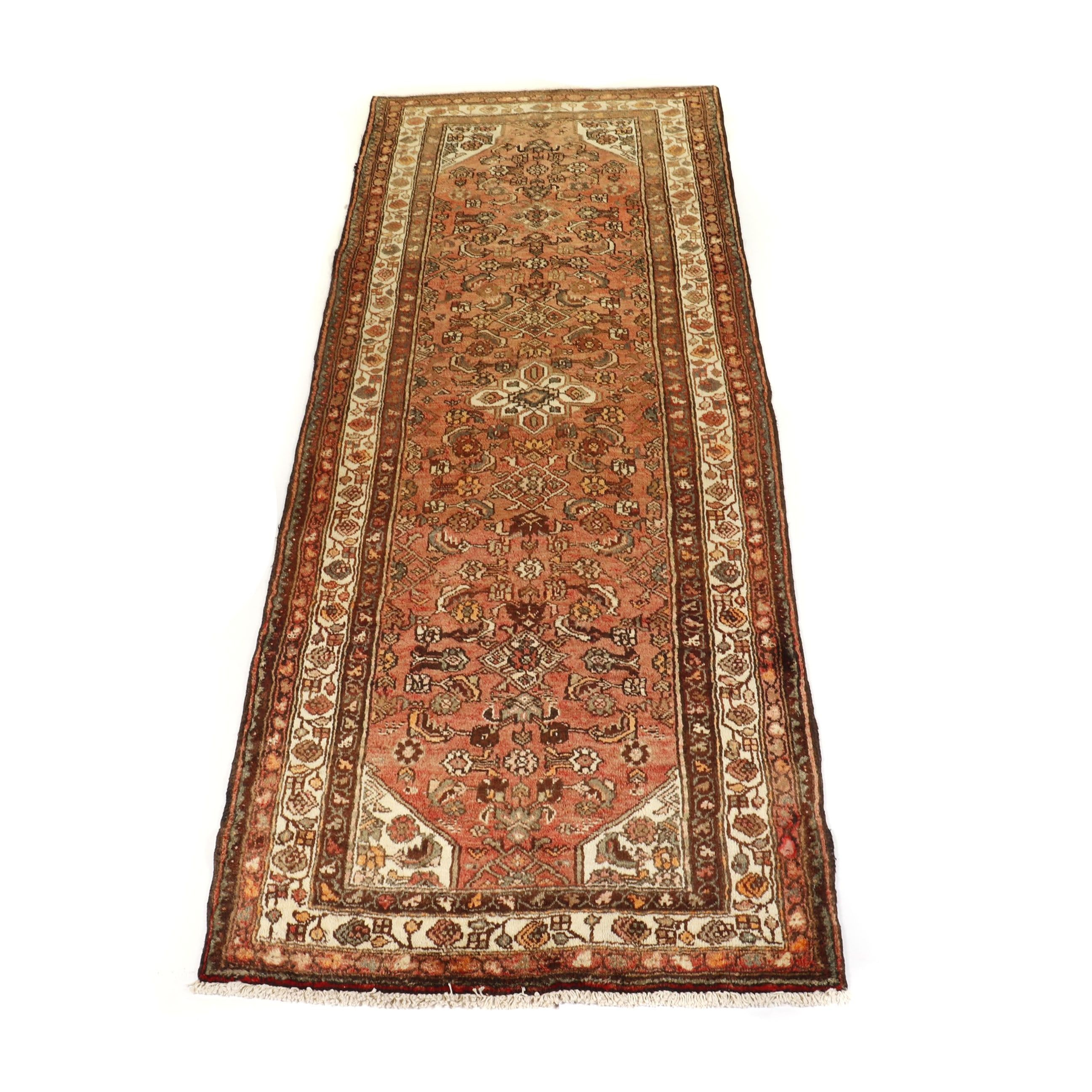 Hand-Knotted Persian Hamadan Wool Runner