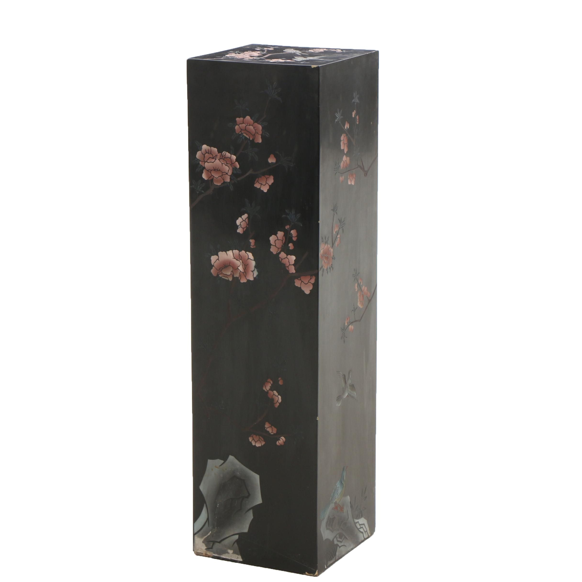 Chinese Lacquer Pedestal
