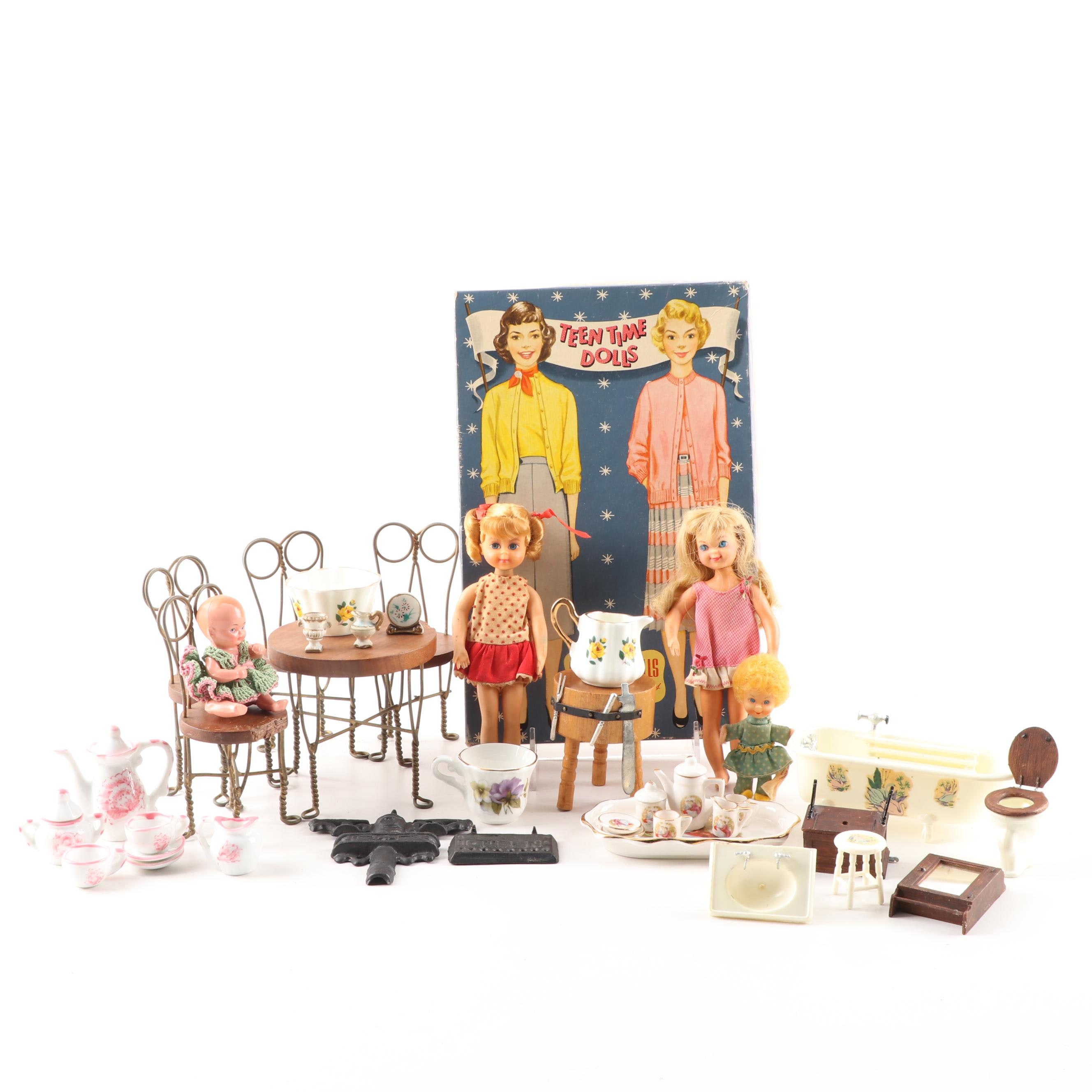 Dollhouse Miniatures and Paper Dolls