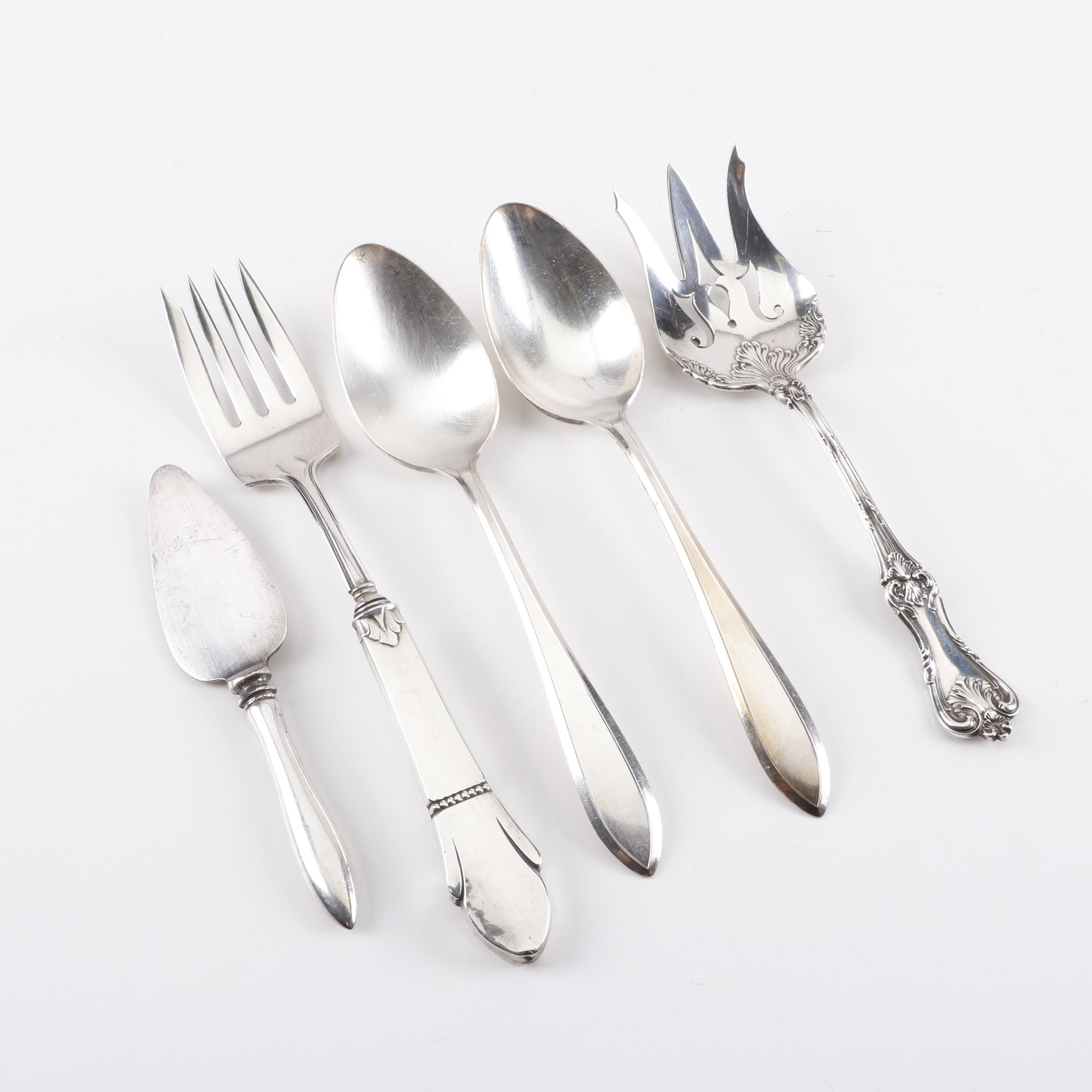 Collection of Sterling Silver and Plated Serveware