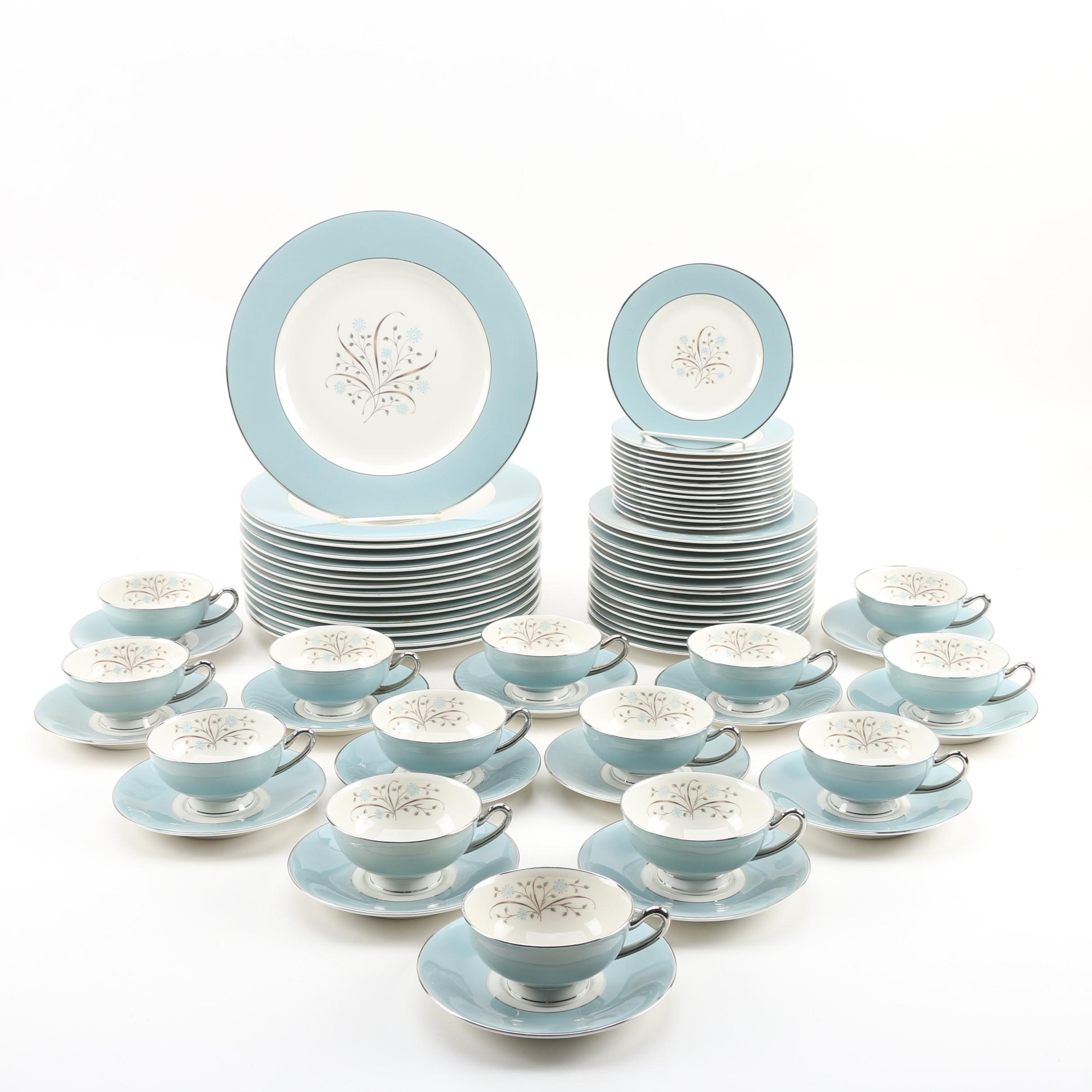 "Syracuse ""Meadow Breeze"" Ceramic Dinnerware for Fourteen, Mid-Century"