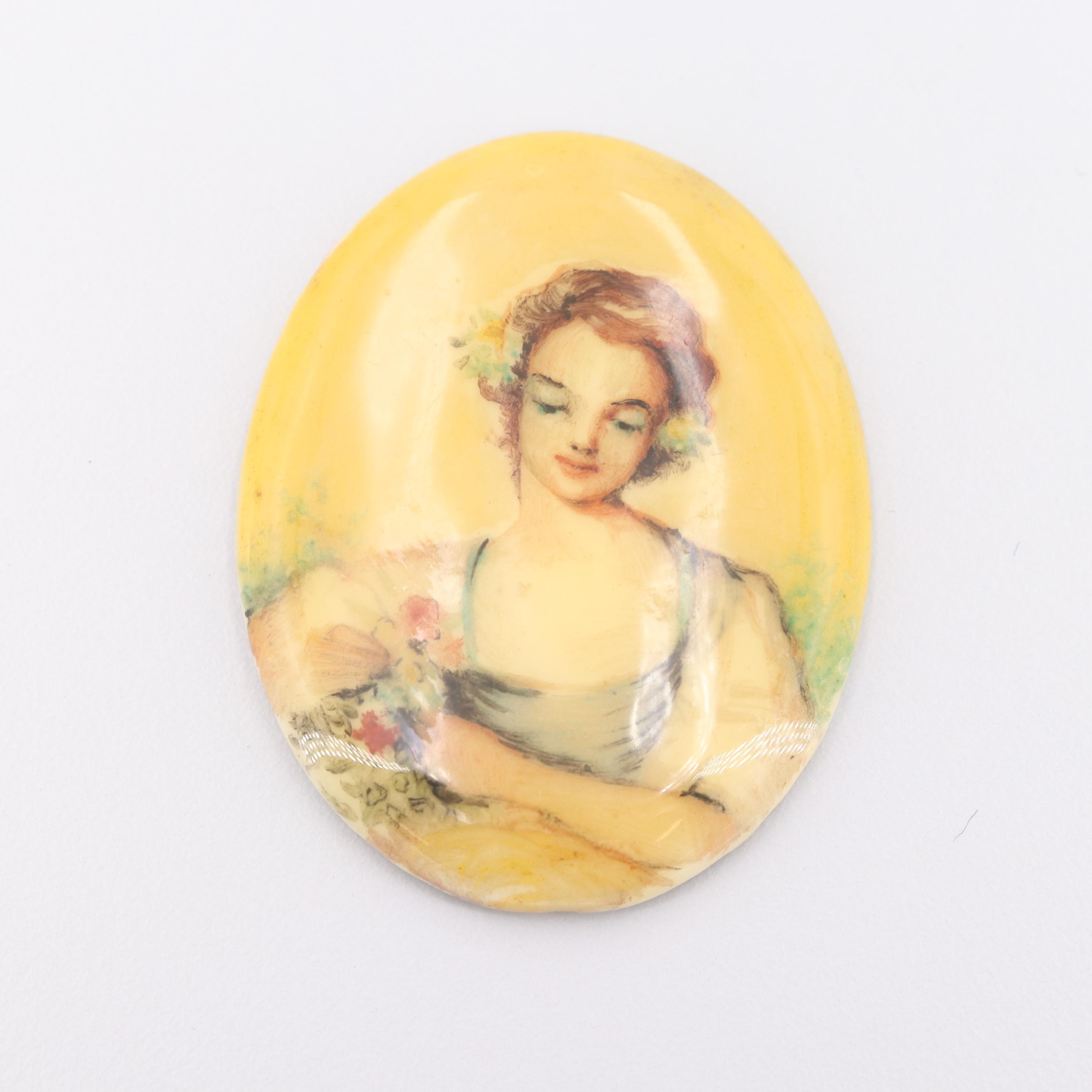 Loose Painted Porcelain Portrait