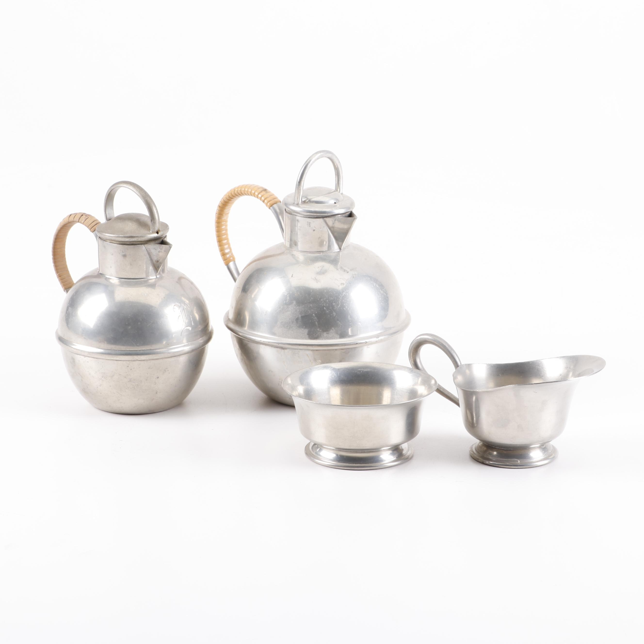 Royal Holland and Hanle Pewter Assembled Tea and Coffee Service