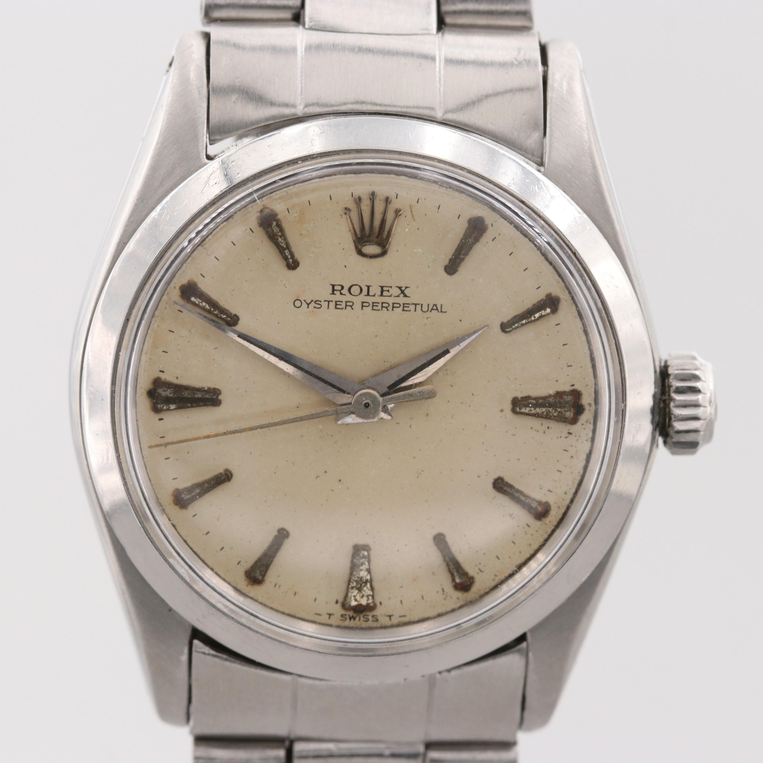 Vintage Rolex Oyster Perpetual Stainless Steel Automatic Wristwatch, 1964