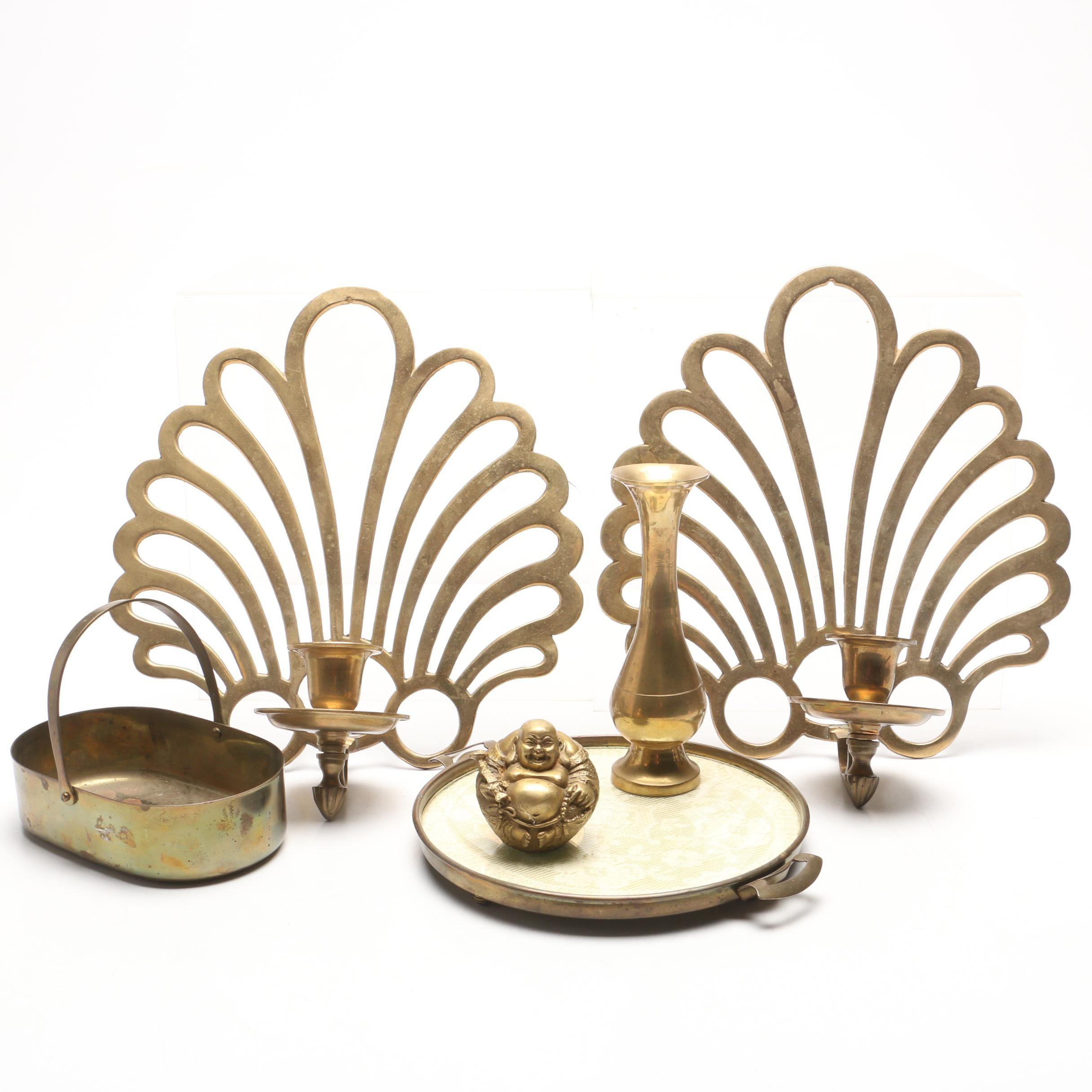 Park Sherman Brass Candle Sconces and Home Decor