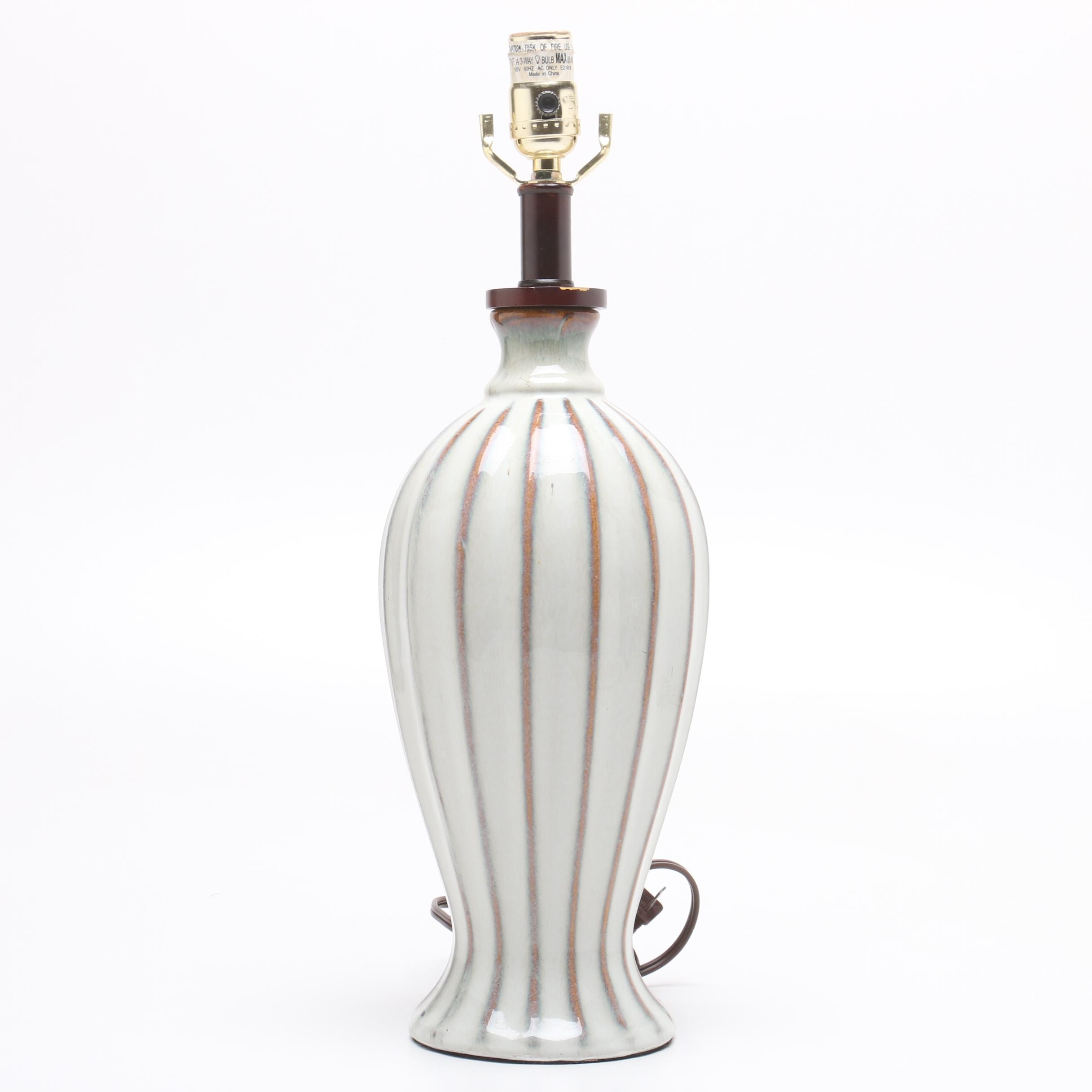 Mid-Century Style Drip Glaze Ceramic Table Lamp