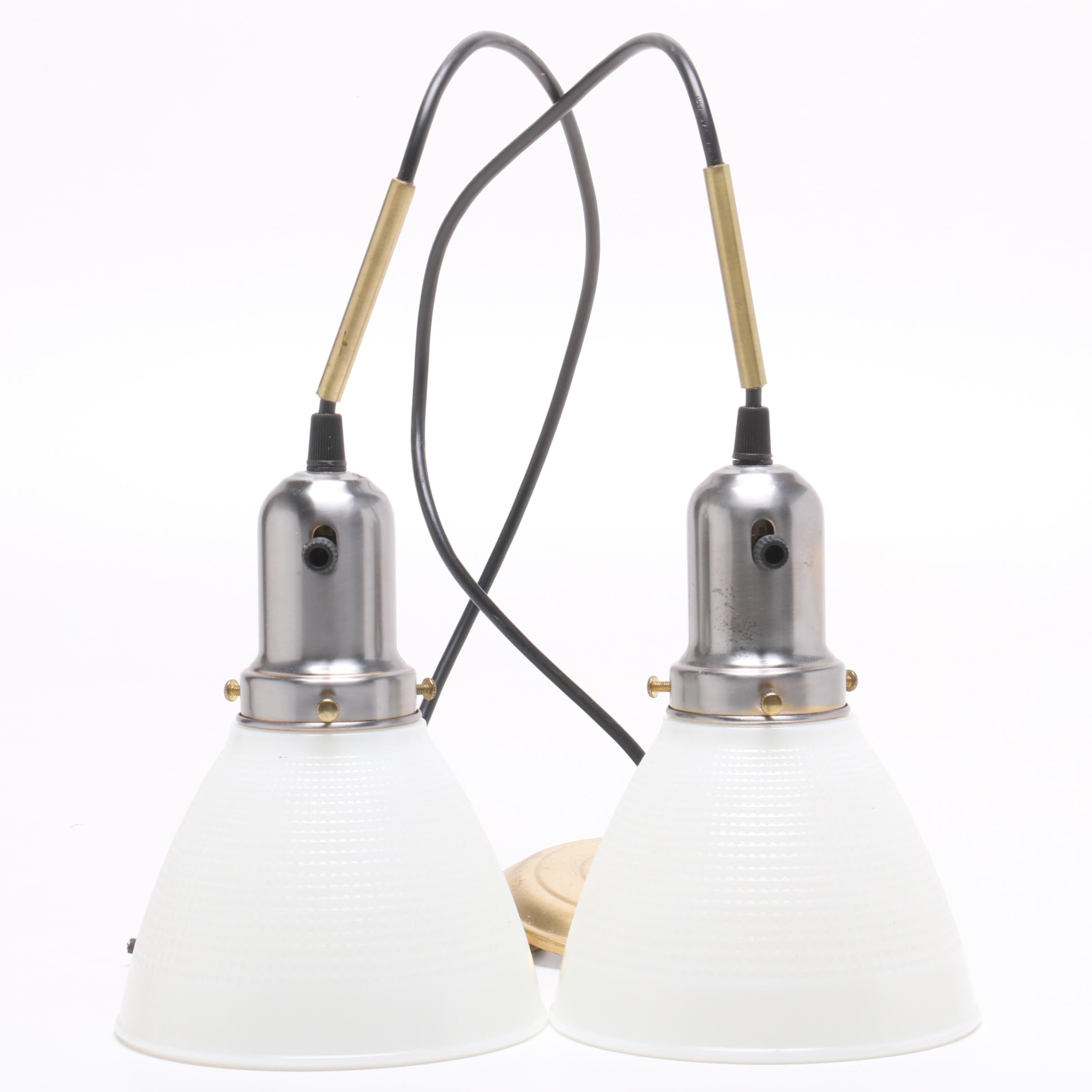 Pendant Lights with Milk Glass Shades