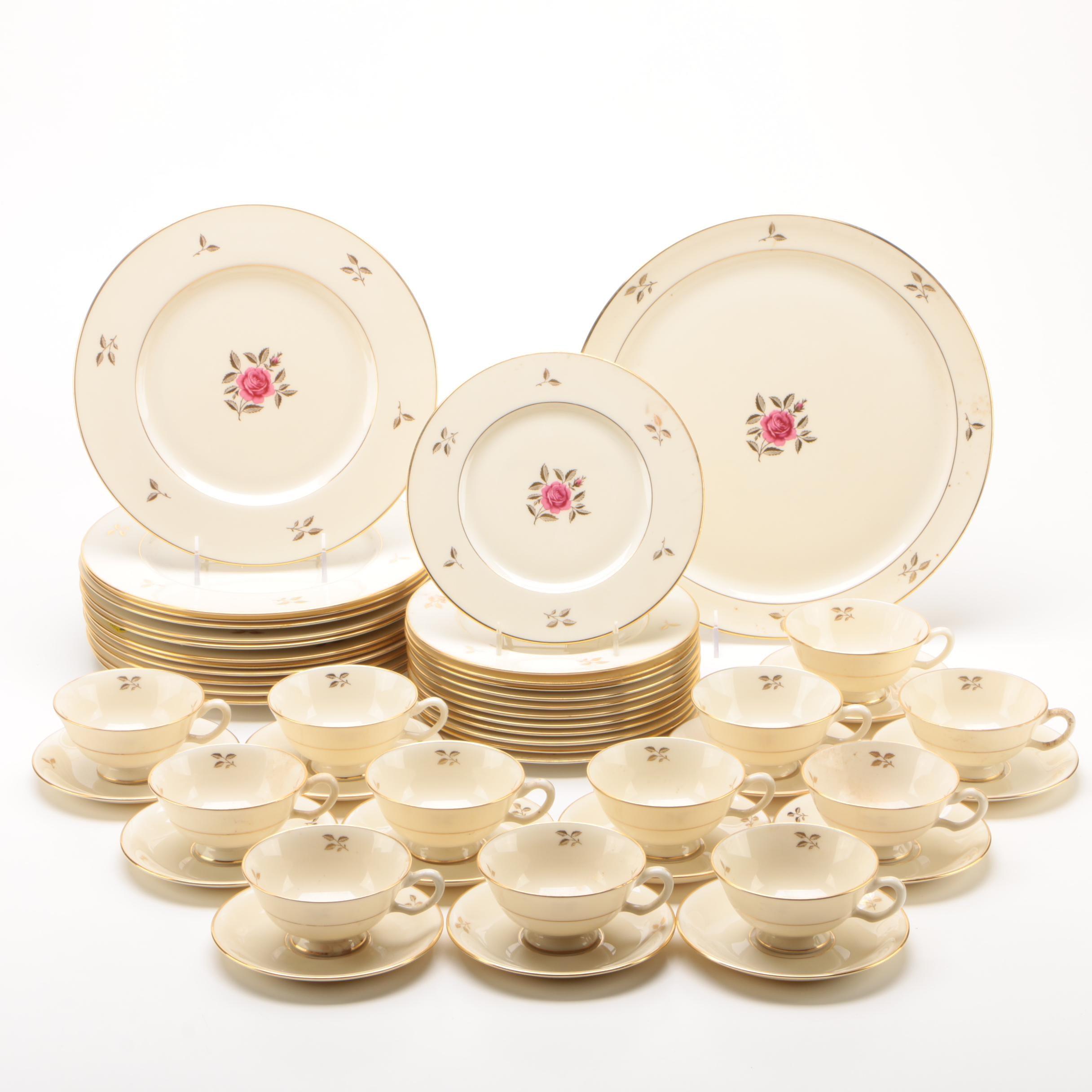 "Lenox ""Rhodora"" Porcelain Tableware for Twelve"
