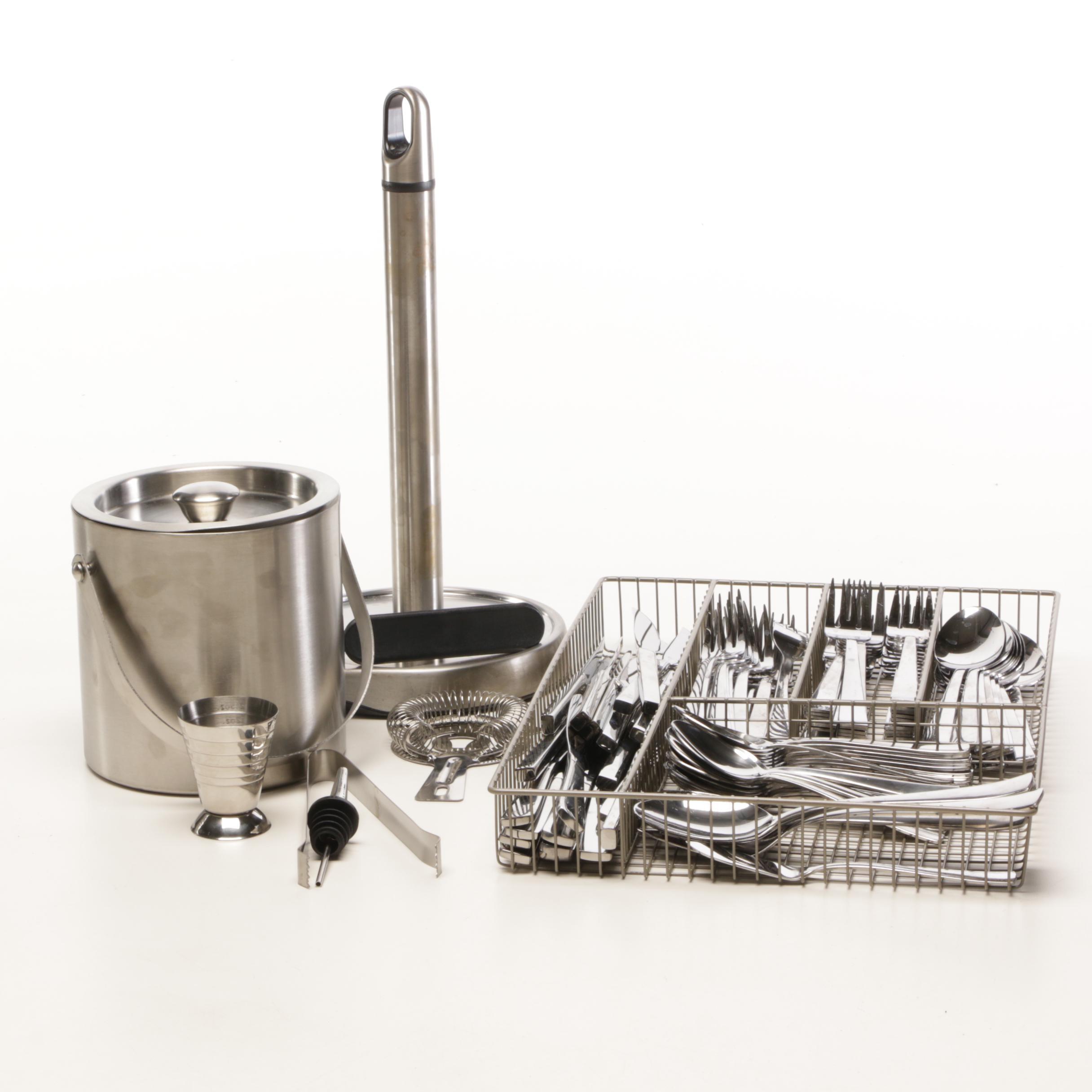 Oneida Flatware and Serveware Including Wusthof Steak Knives
