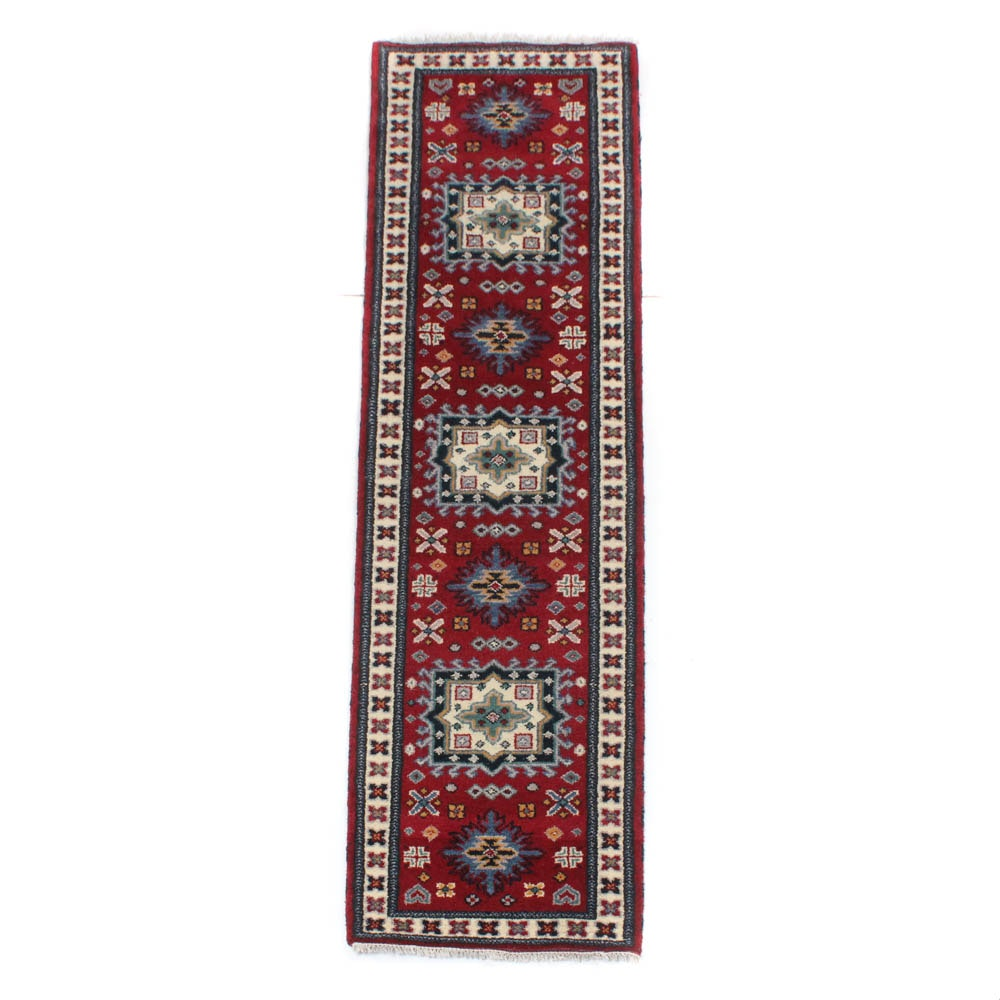 Hand-Knotted Indo-Caucasian Kazak Rug