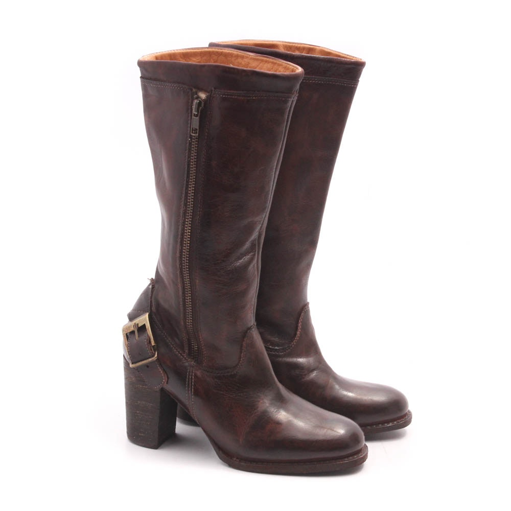 Bed Stu Chestnut Leather Boots