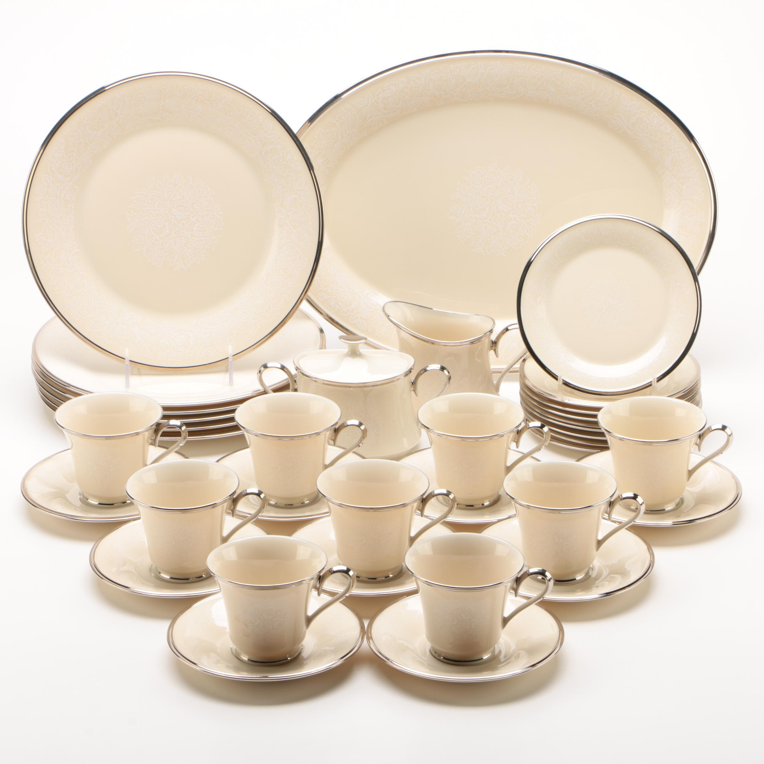 "Lenox ""Moonspun"" Bone China Dinnerware, Mid/Late 20th Century"