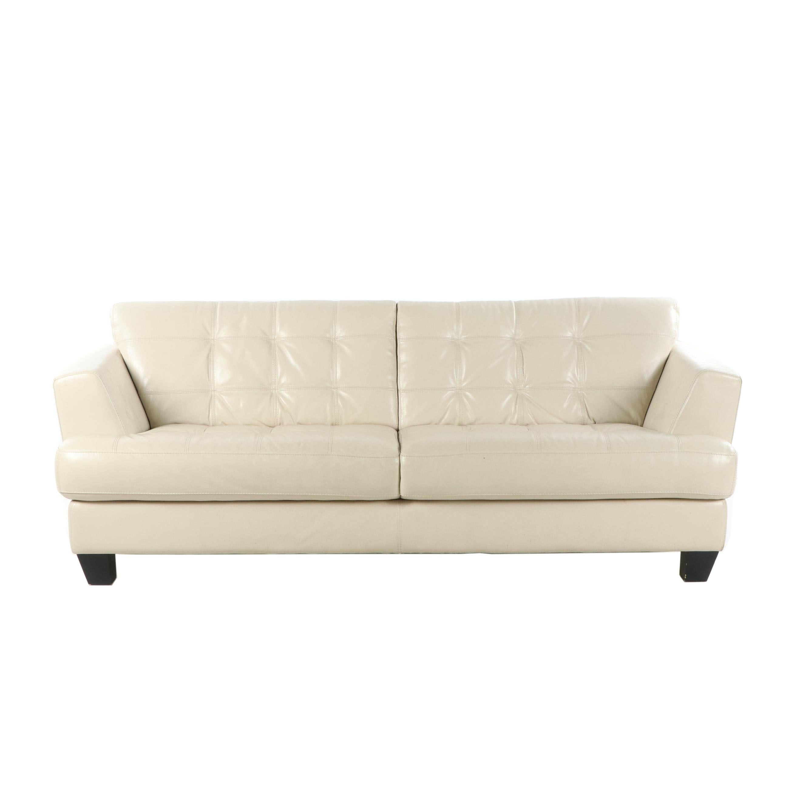Leather Sofa by Cindy Crawford Home, 21st Century
