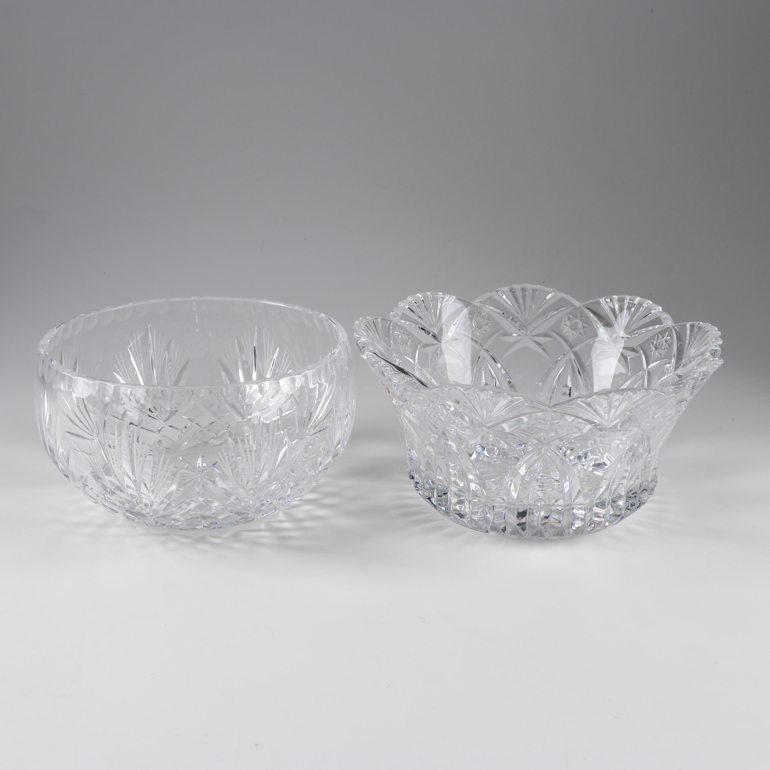 Crystal Bowl and Dish