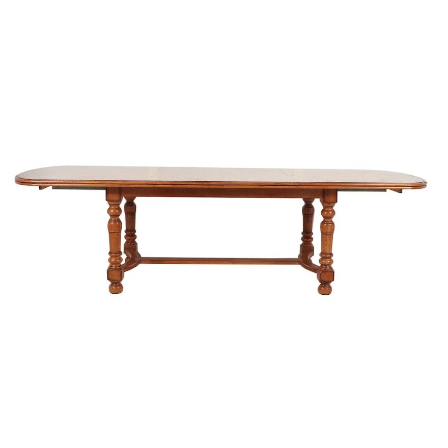 Oak Dining Table By Drexel Heritage