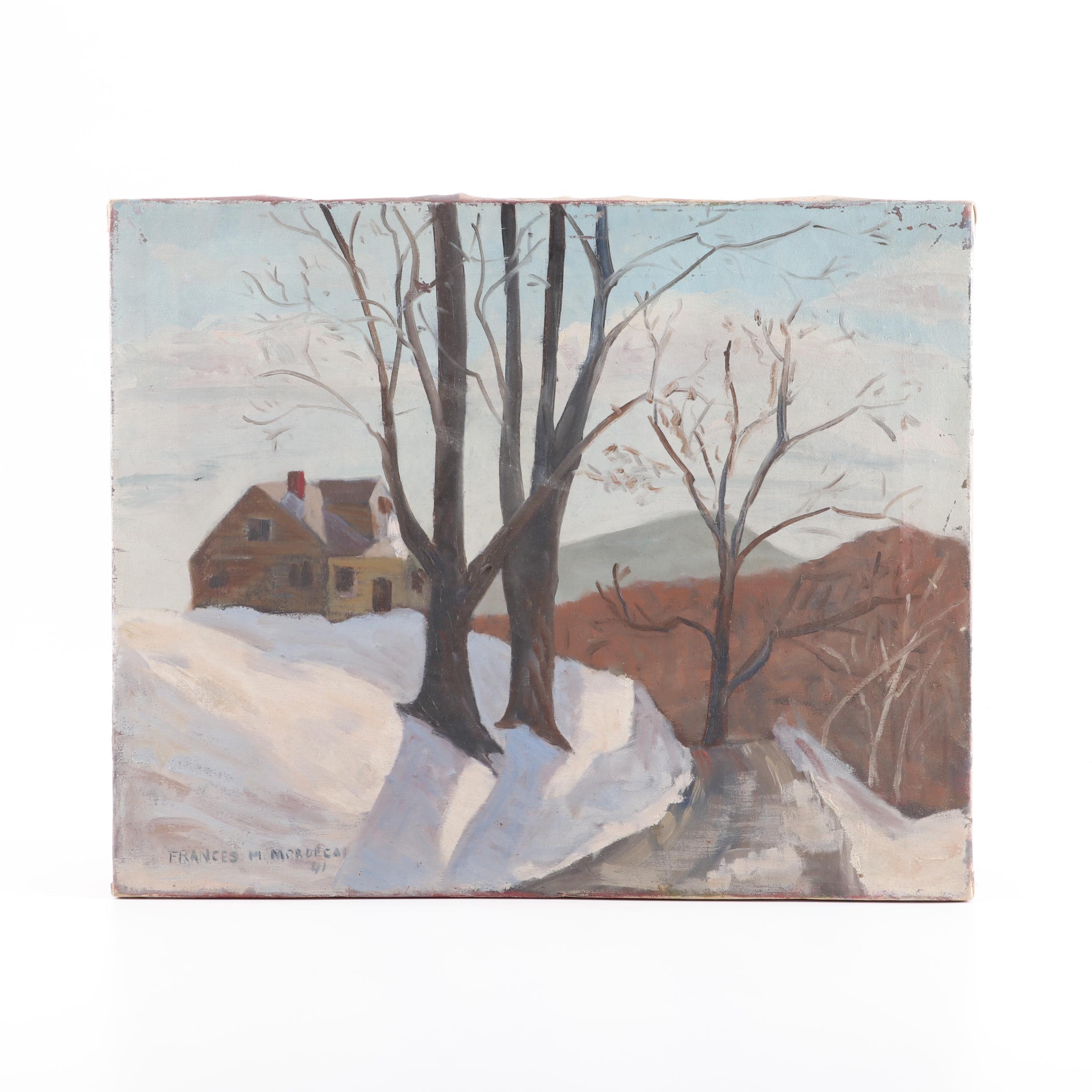 Frances M. Mordecai Landscape Oil Painting