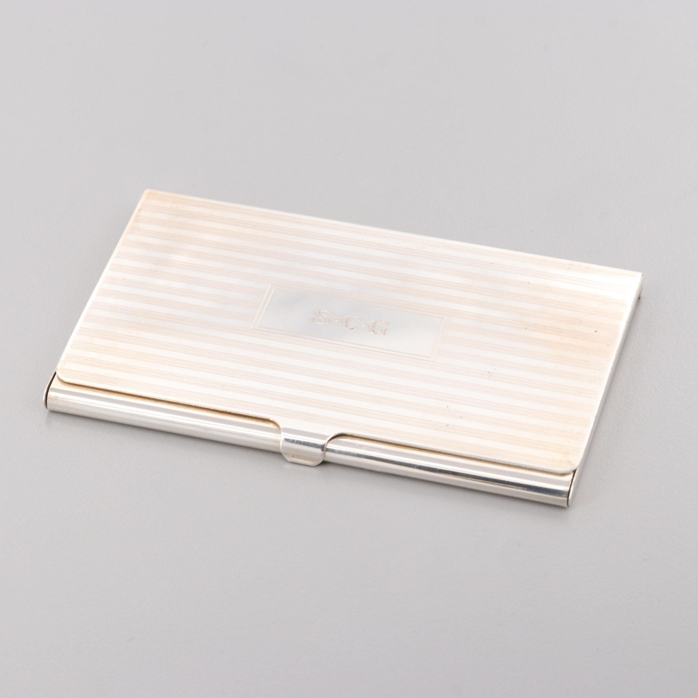 Tiffany & Co. Sterling Silver Card Case
