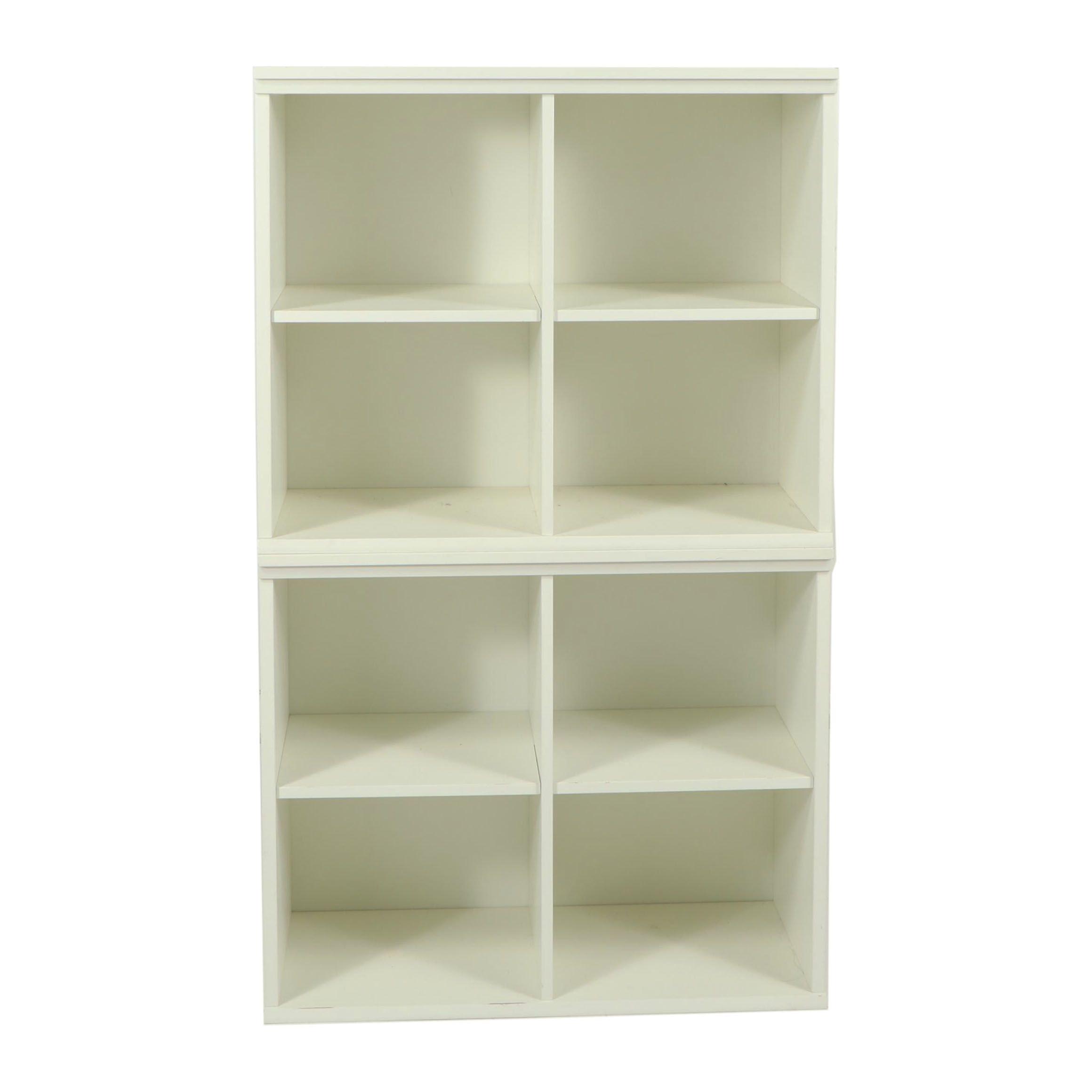 Painted Cubby Shelf Storage Units, 21st Century