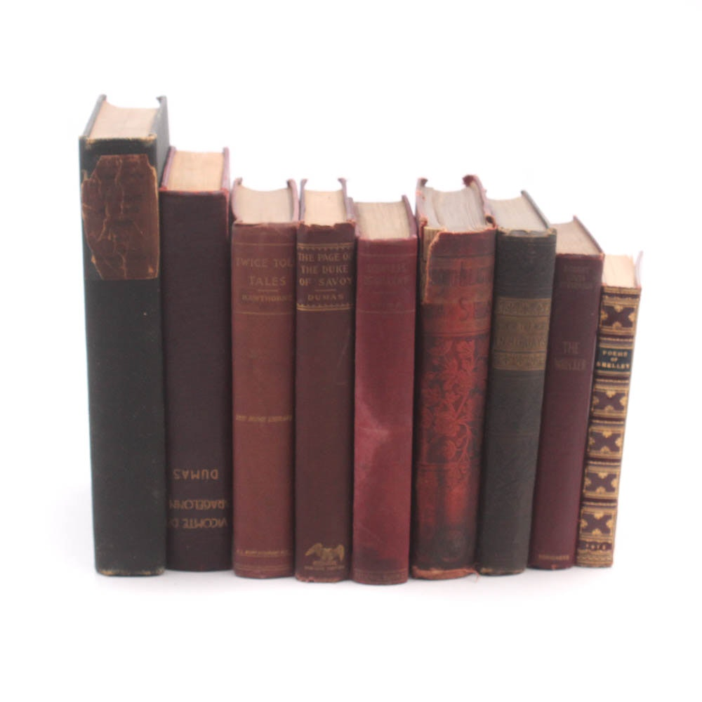 Antique Literature and Poetry Books Featuring Jules Verne
