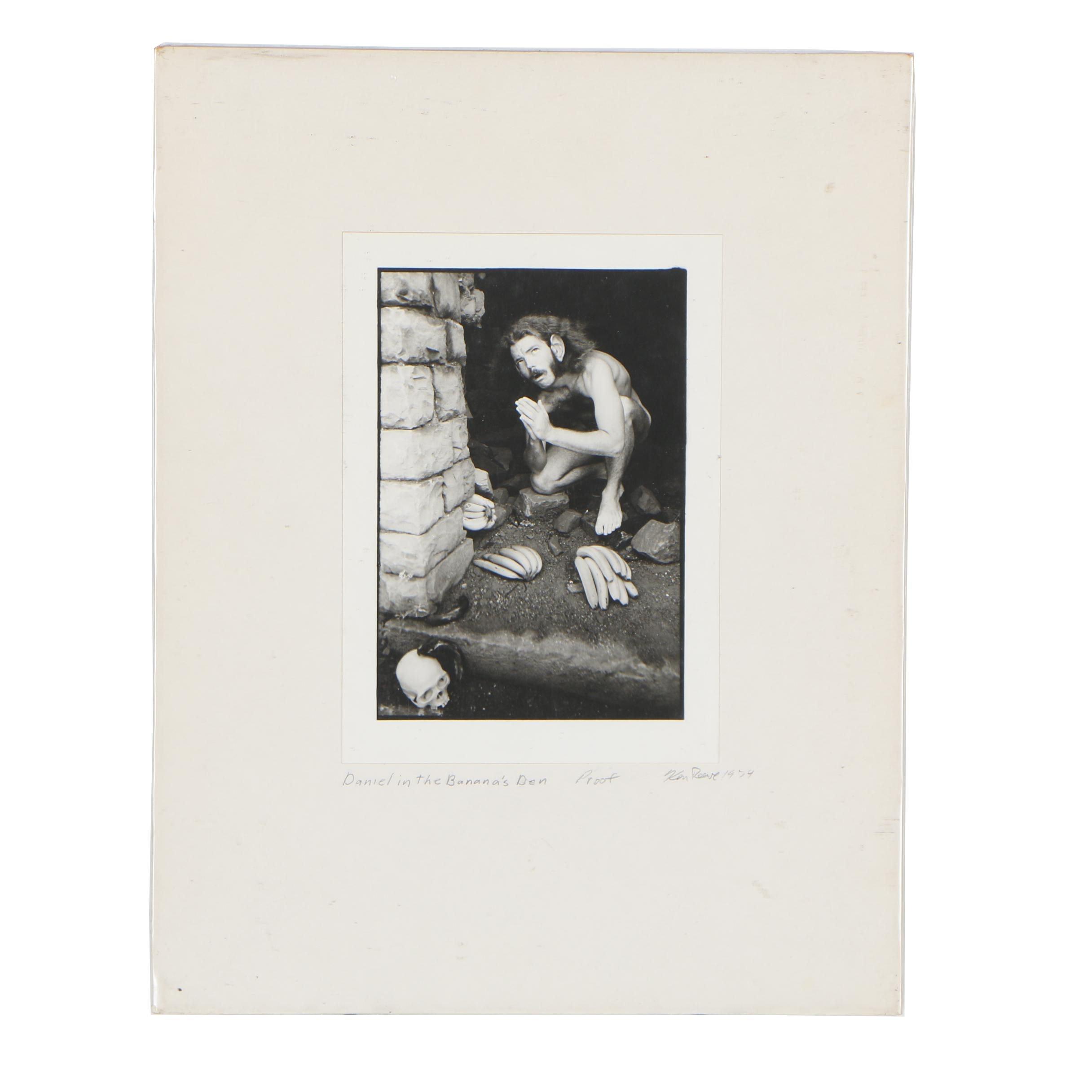 "Ken Reeve Silver Gelatin Photograph ""Daniel in the Banana's Den"""
