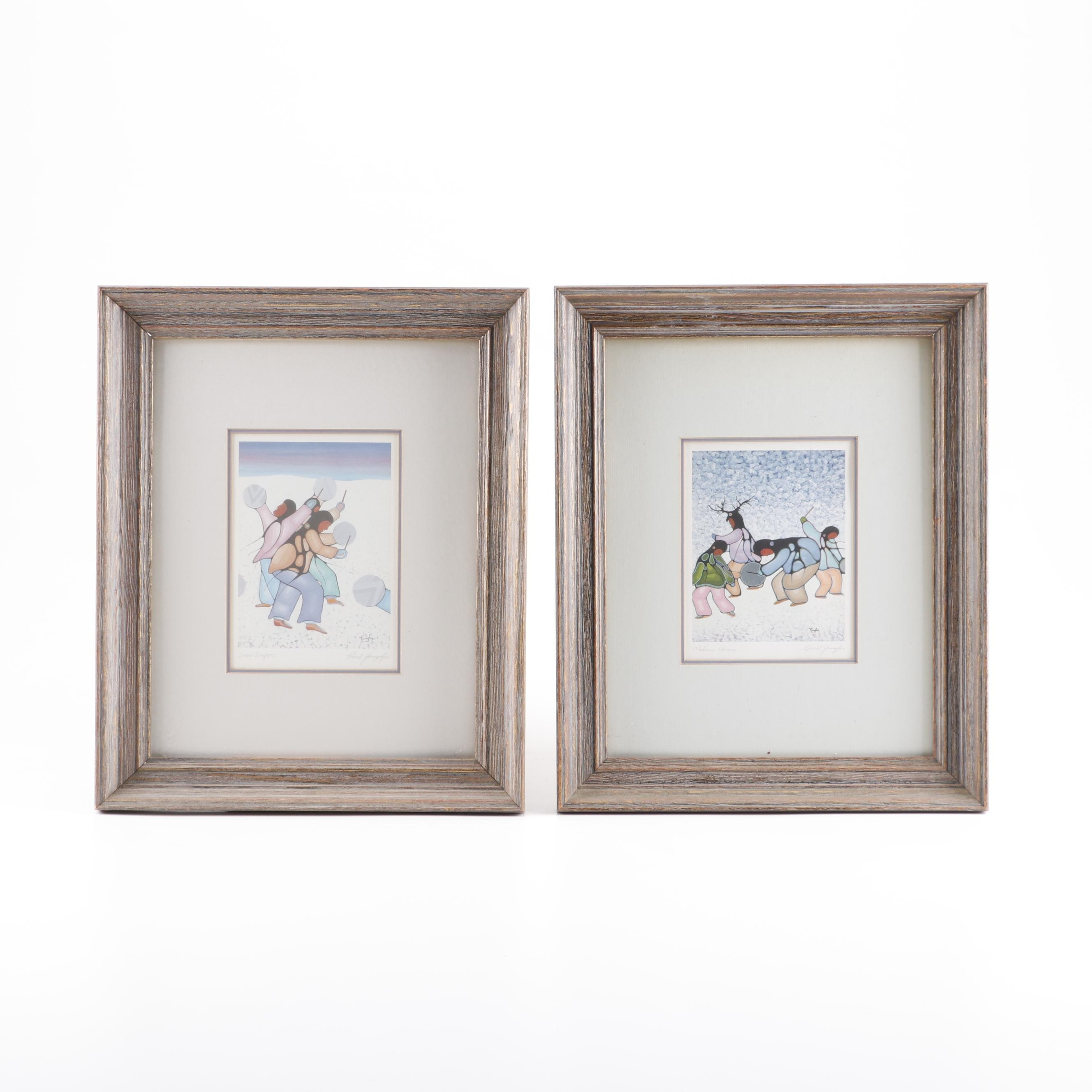 Pair of Cecil Youngfox Offset Lithographs