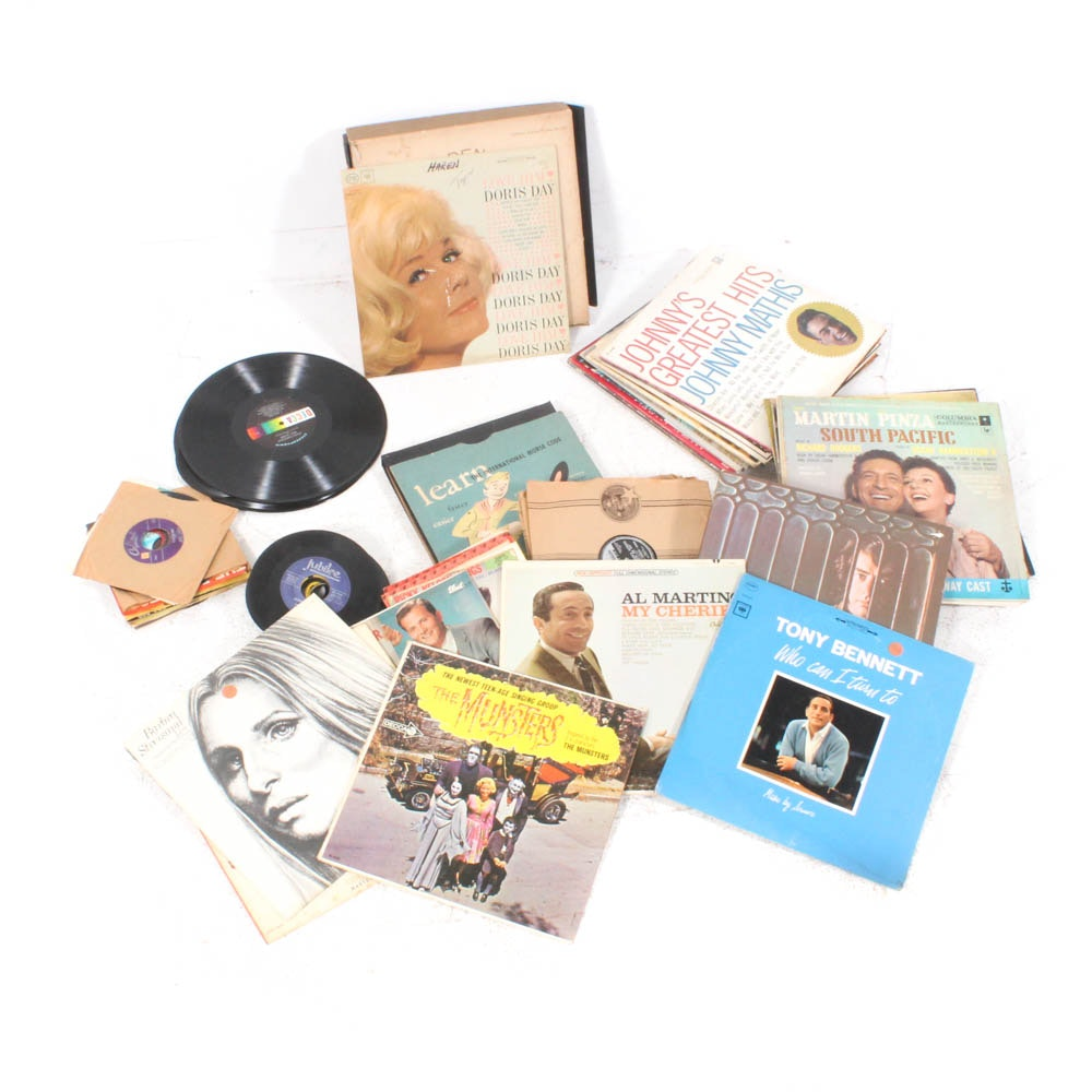 1950s-60s Records Featuring The Beatles, Rolling Stones, Elvis, Tony Bennett