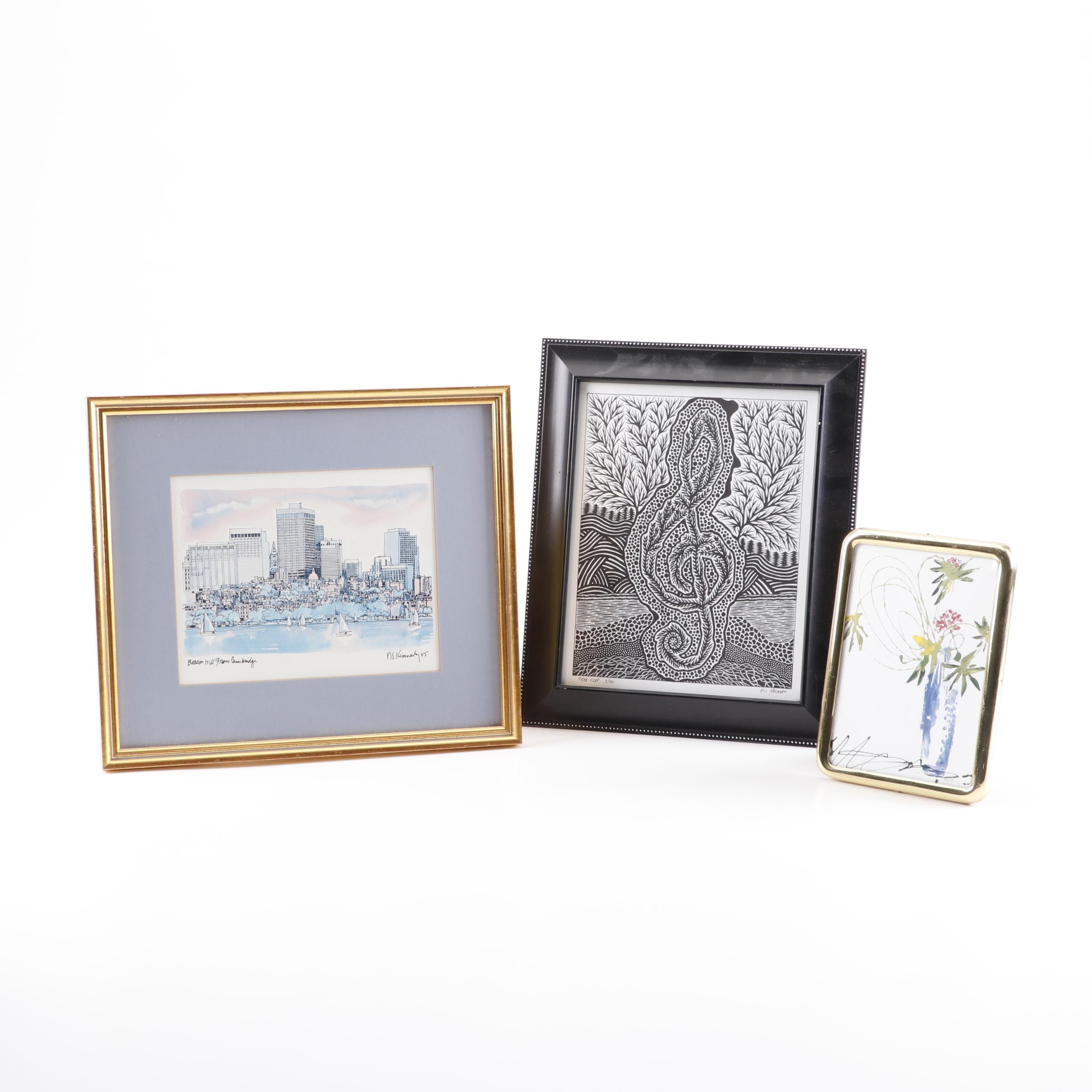 Assortment of Offset Lithographs and Lithographs