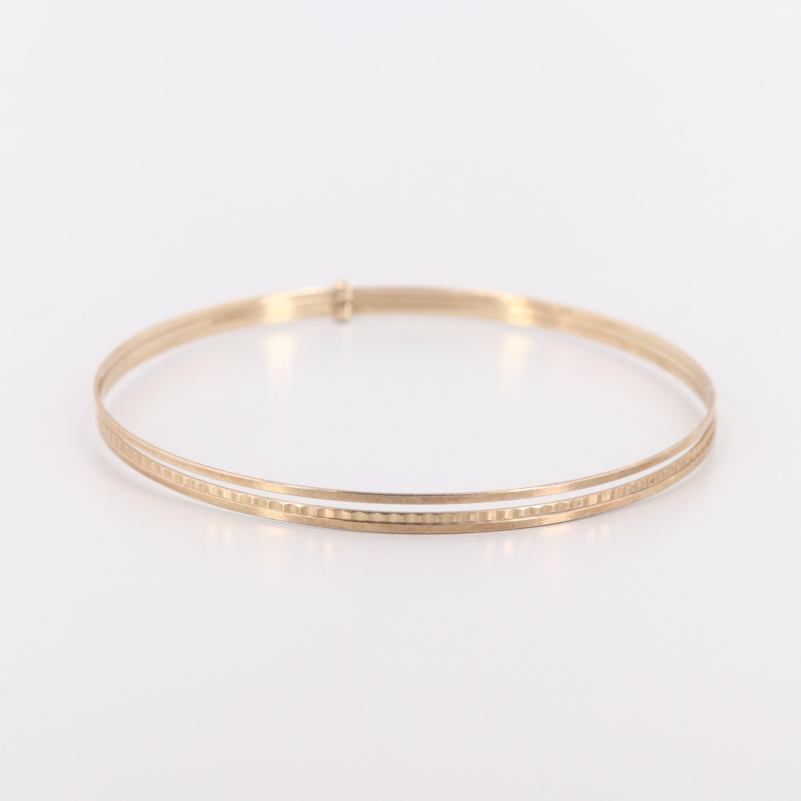 Vintage 8K Yellow Gold Bangle Bracelet