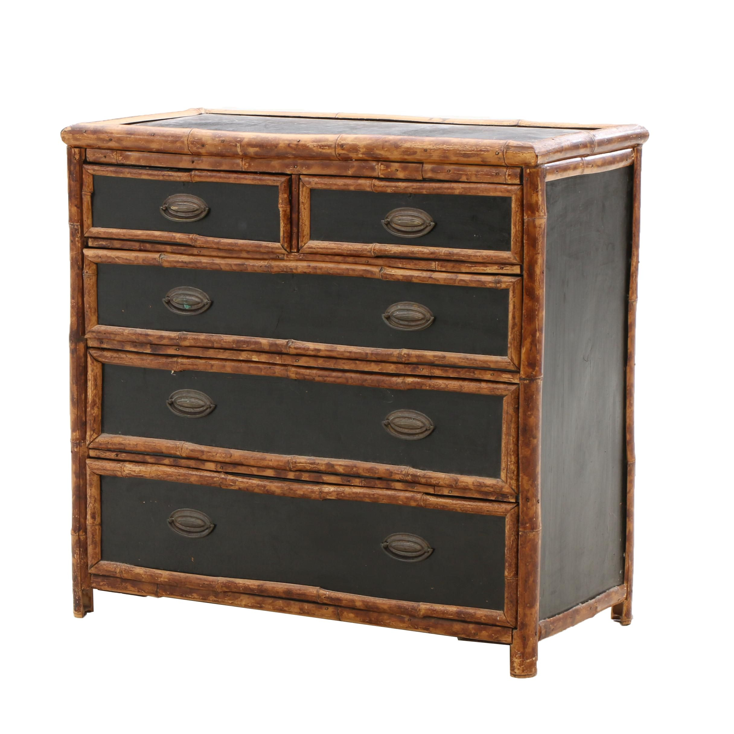 Late 19th Century Rattan Framed Dresser