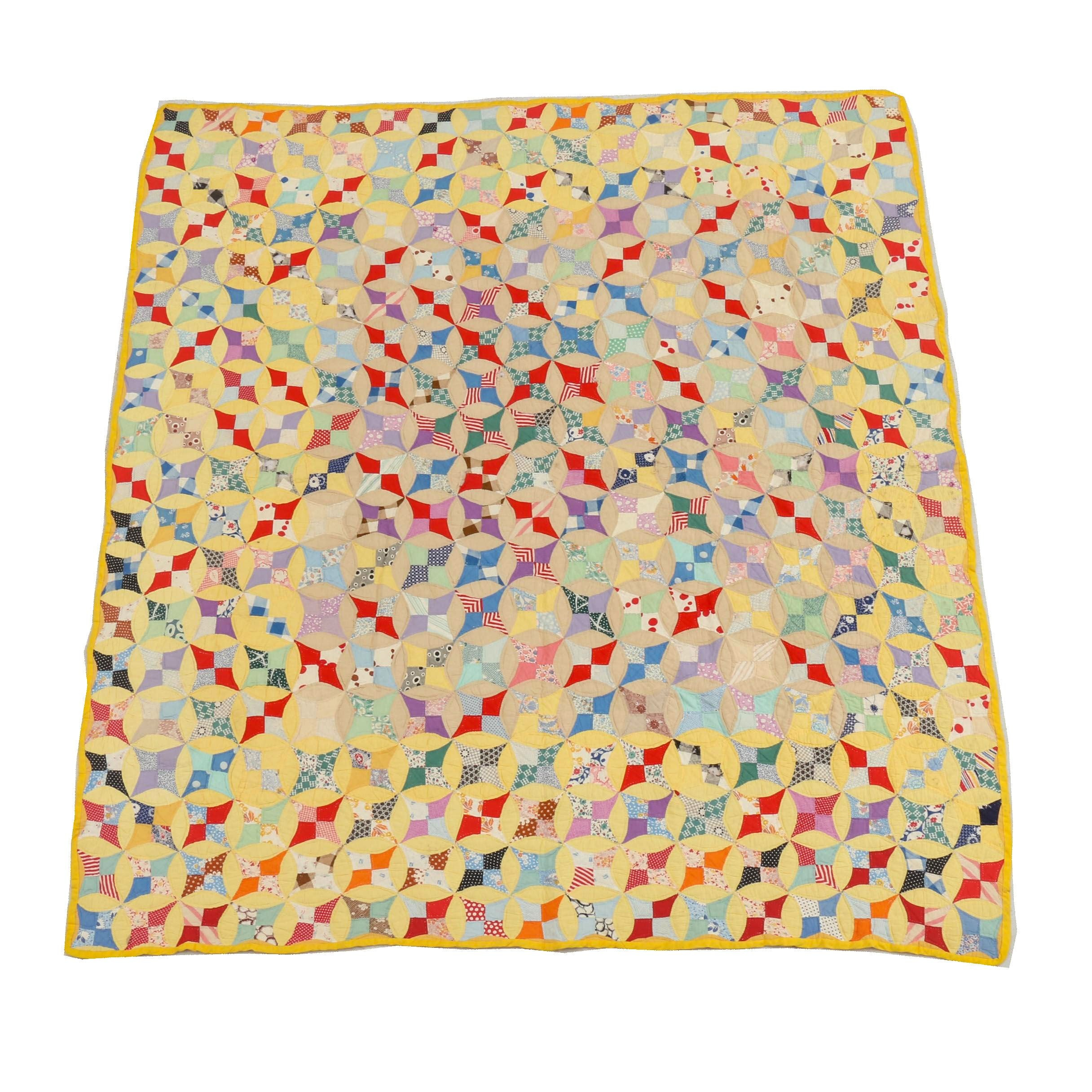 """Handcrafted """"Petal Panel"""" Quilt"""