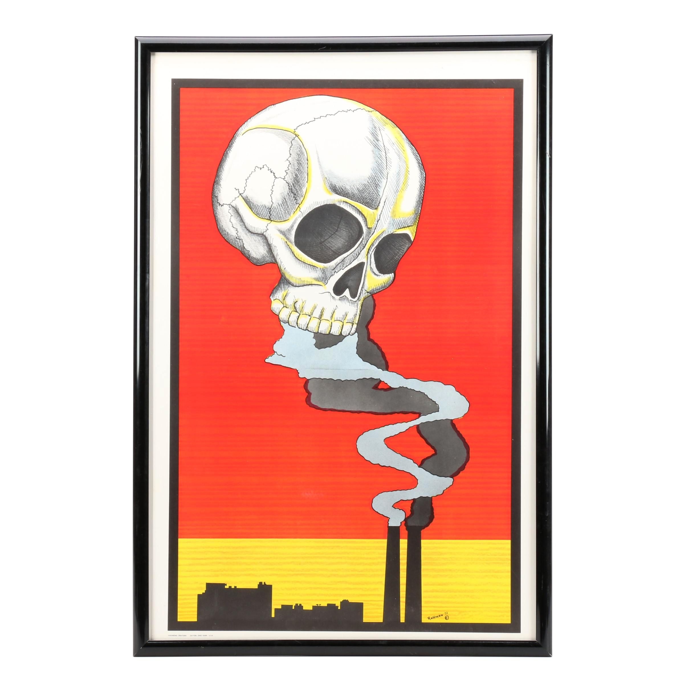 Skull Death from Pollution Poster by Ruhman Vagabond Creations