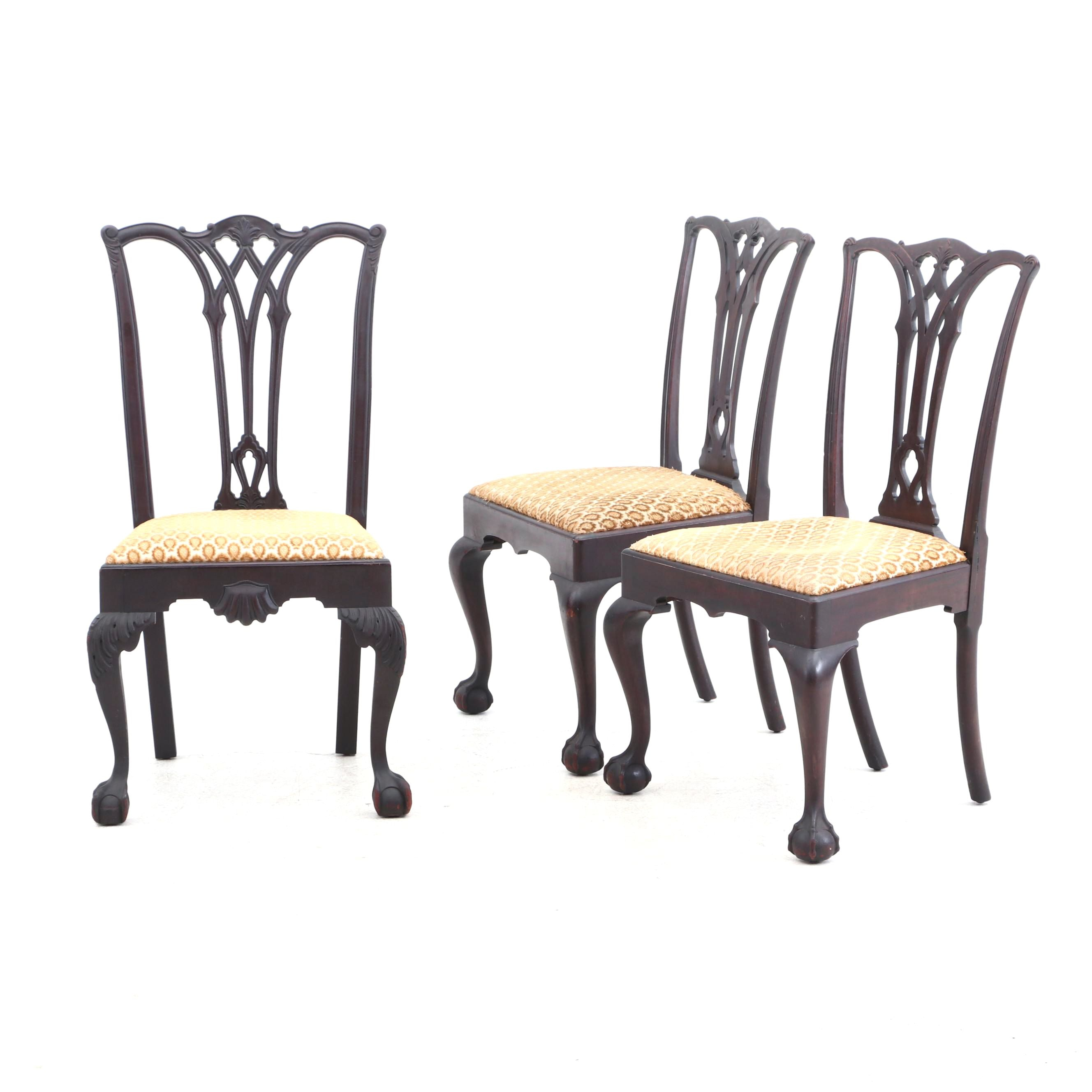 Three Federal Style Mahogany Chairs, Mid-20th Century