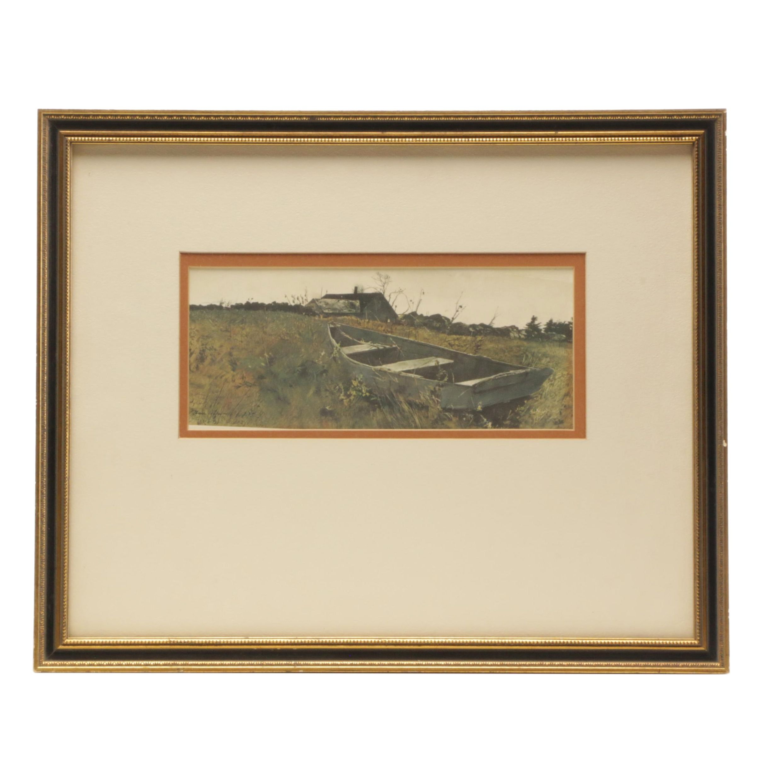"""Offset Lithographic Reproduction after Andrew Wyeth """"Teel's Island"""""""