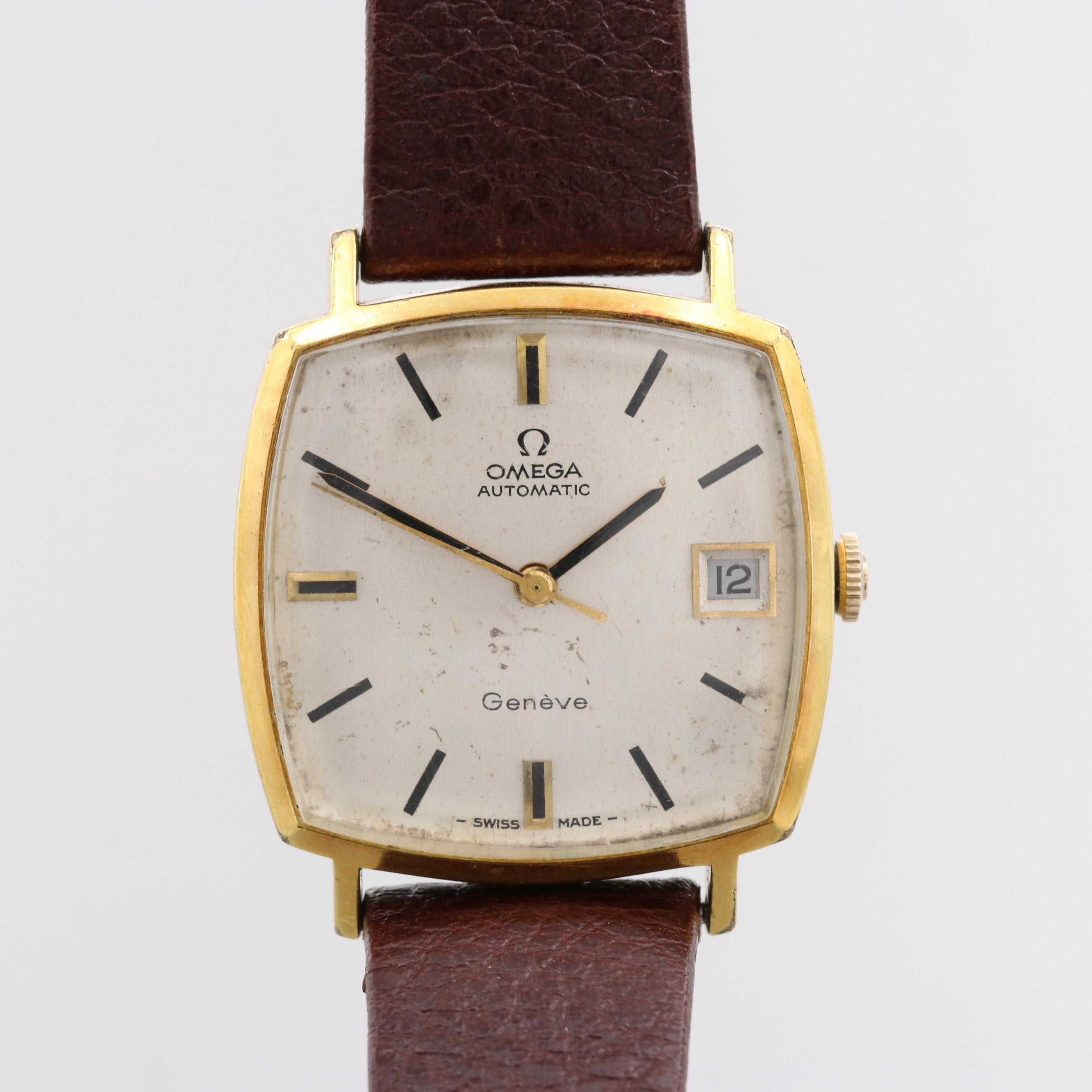 Vintage Omega Geneve Gold-Tone Automatic Wristwatch
