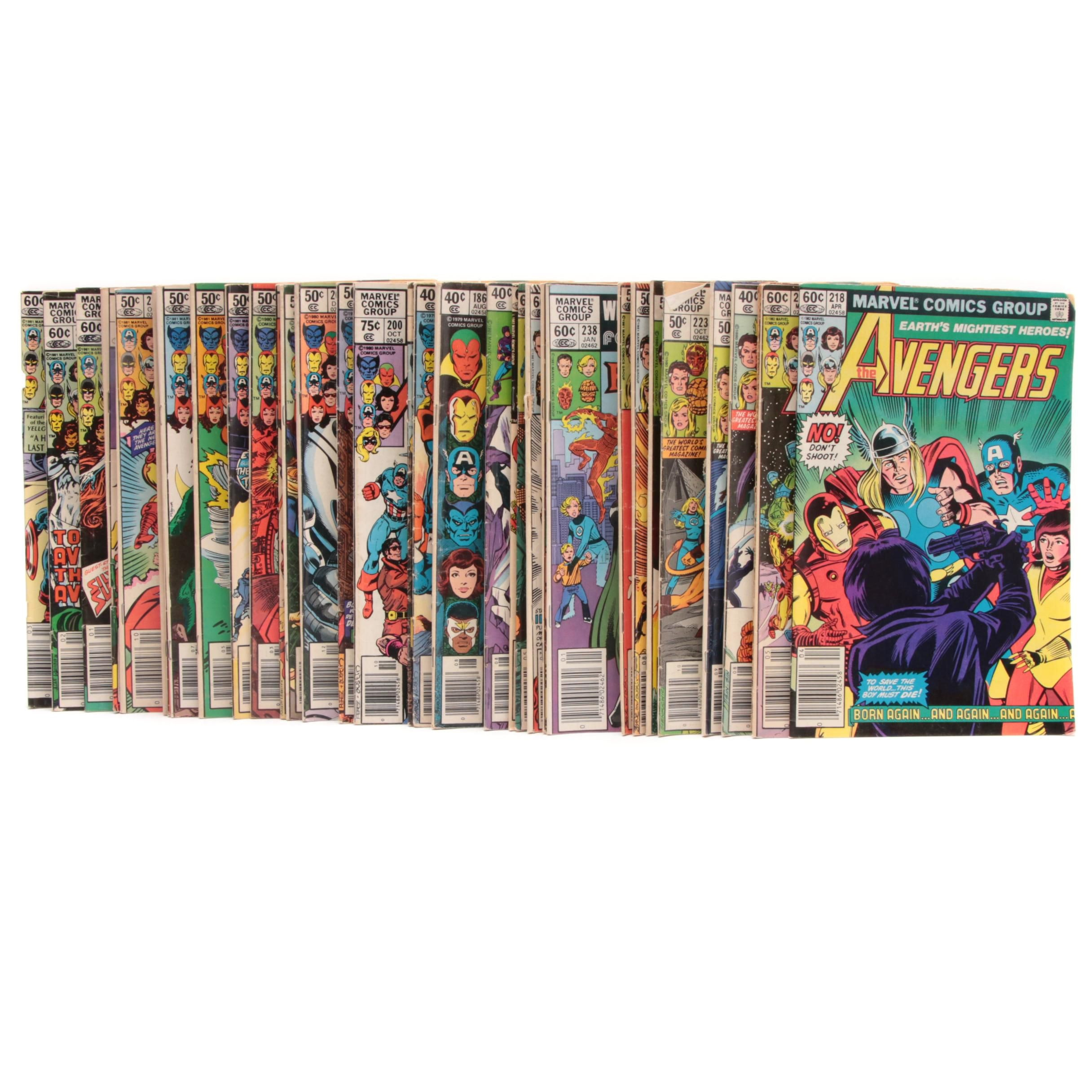 "Marvel Silver and Bronze Comics Featuring ""Fantastic Four"" and ""The Avengers"""