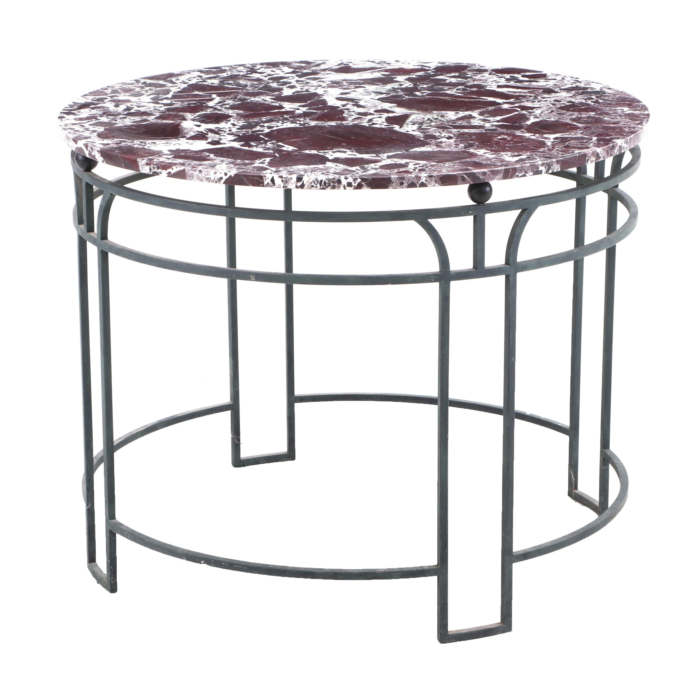 Marble Top Metal Frame Dinette Table