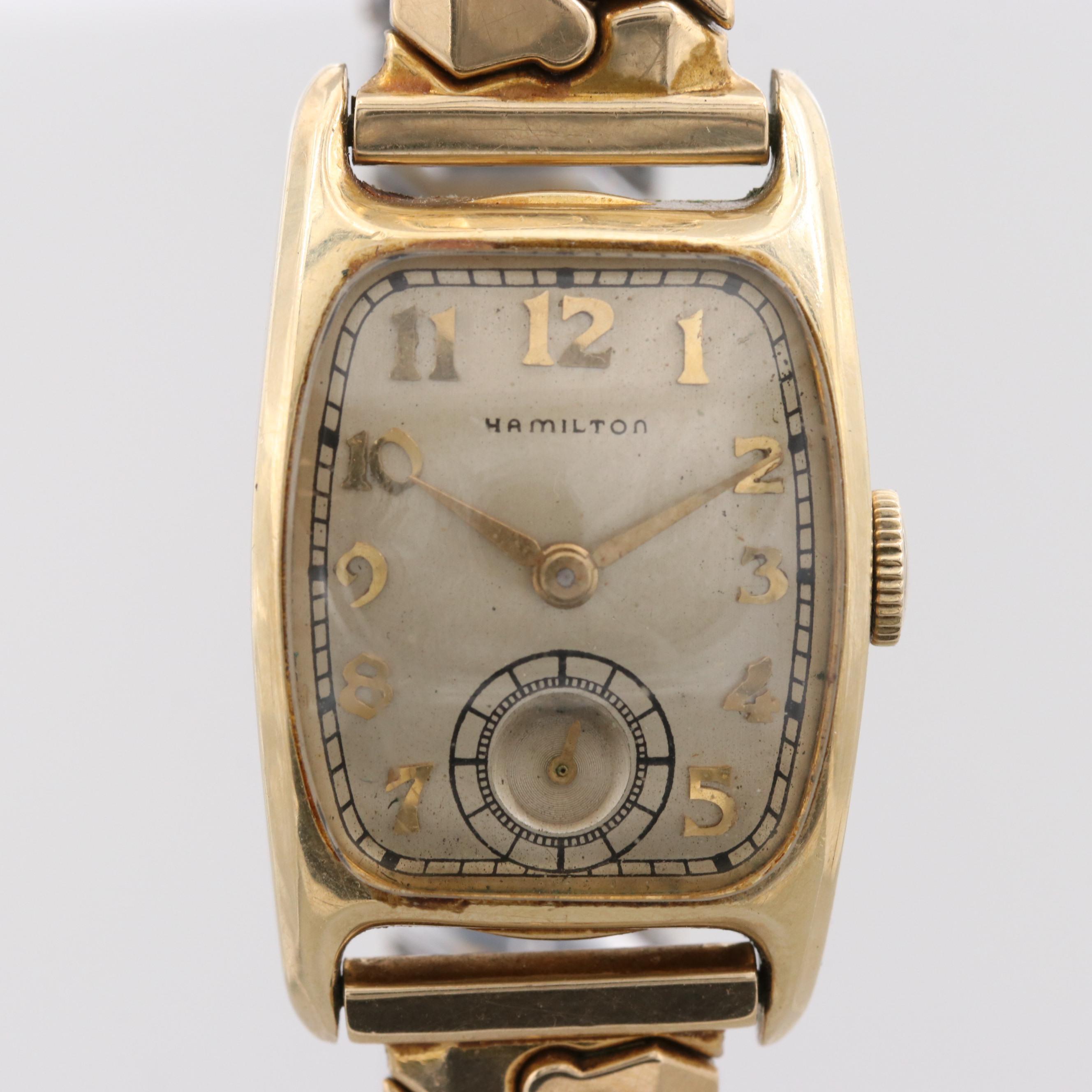Hamilton 14K Gold Filled Wristwatch, 1946