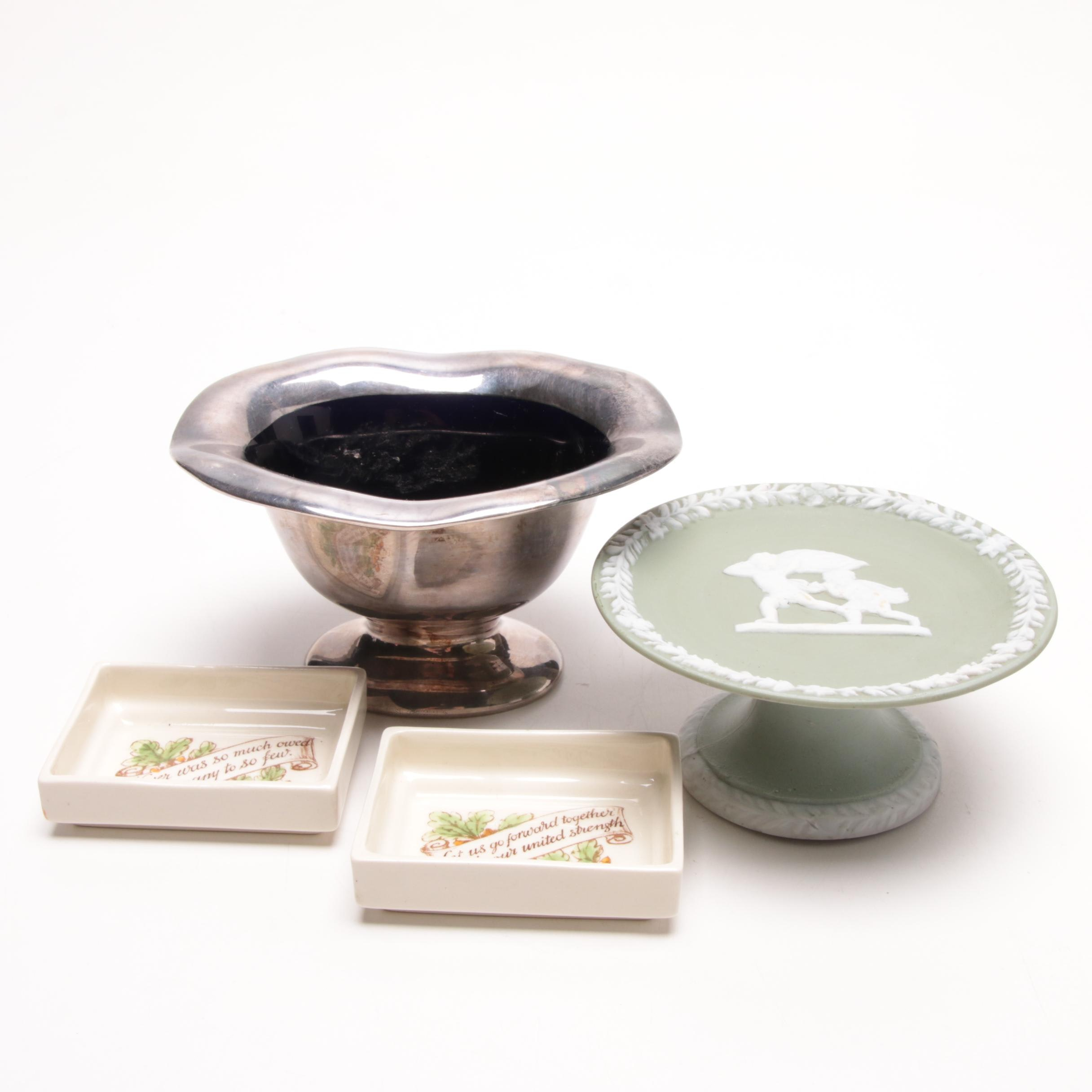 Tableware Featuring Lenox Candy Dish and Royal Doulton Finger Bowls