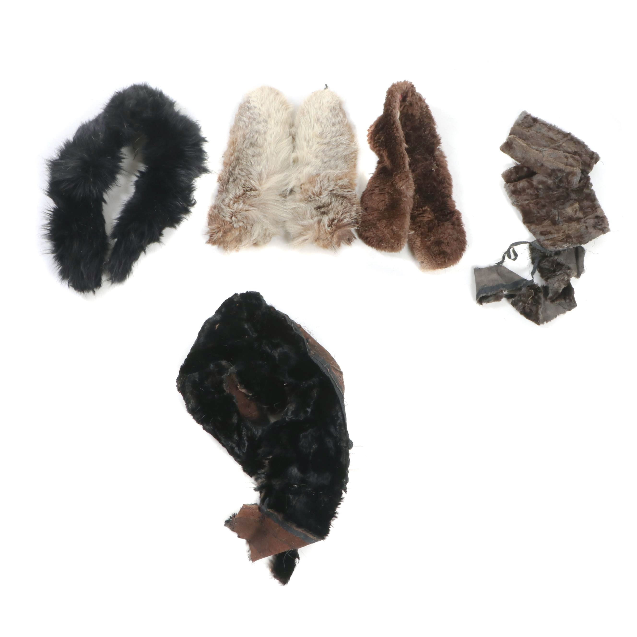 Fur Collars and Remnants Including Fox Fur