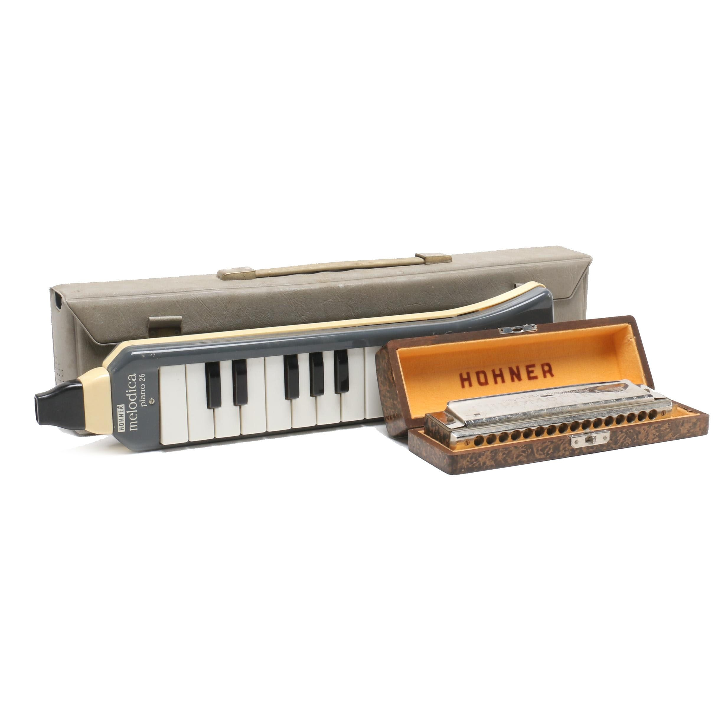 Hohner Chromonika III Harmonica Key C 16-Hole with Hohner Melodica Piano 26