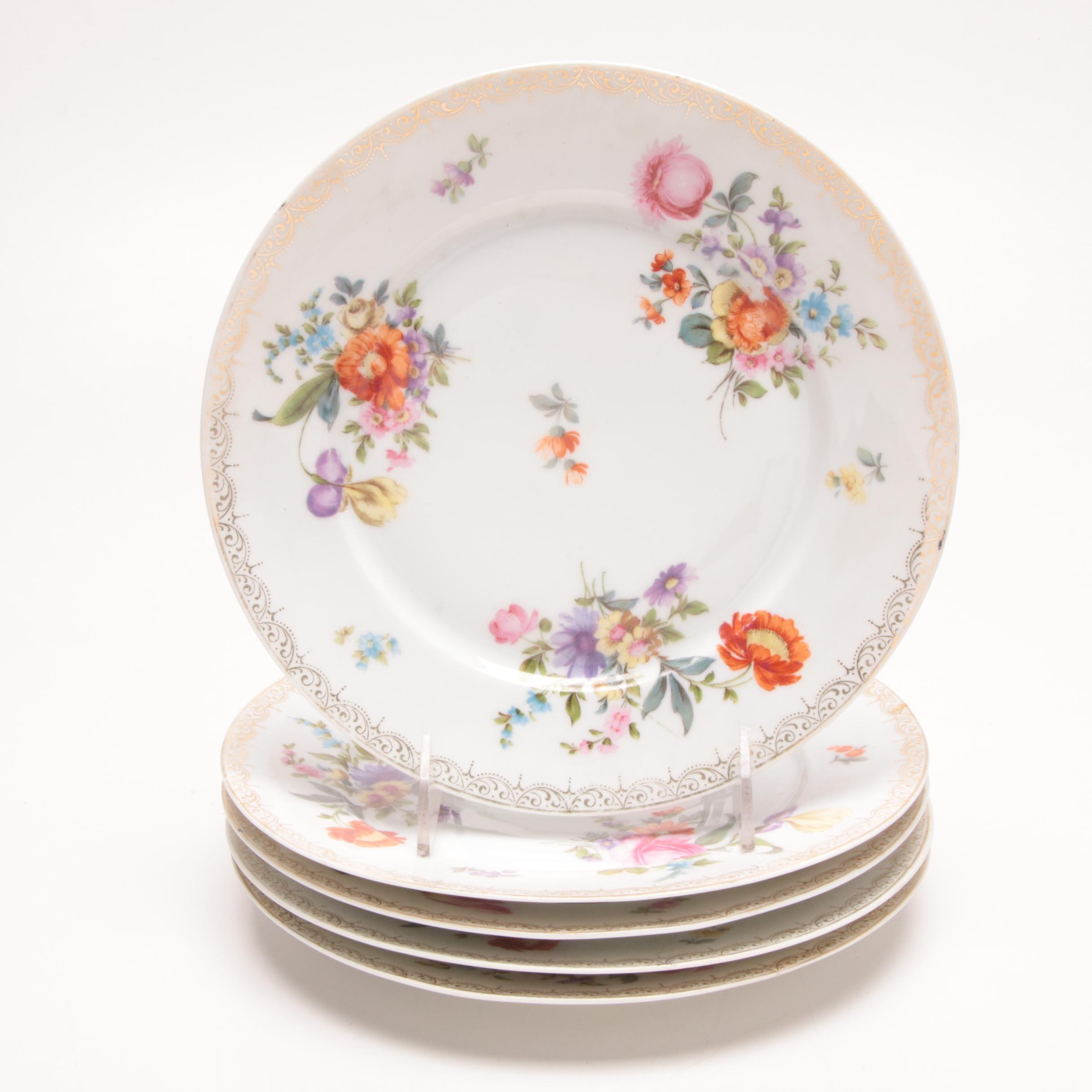 German Z.S. & Co. Porcelain Salad Plates