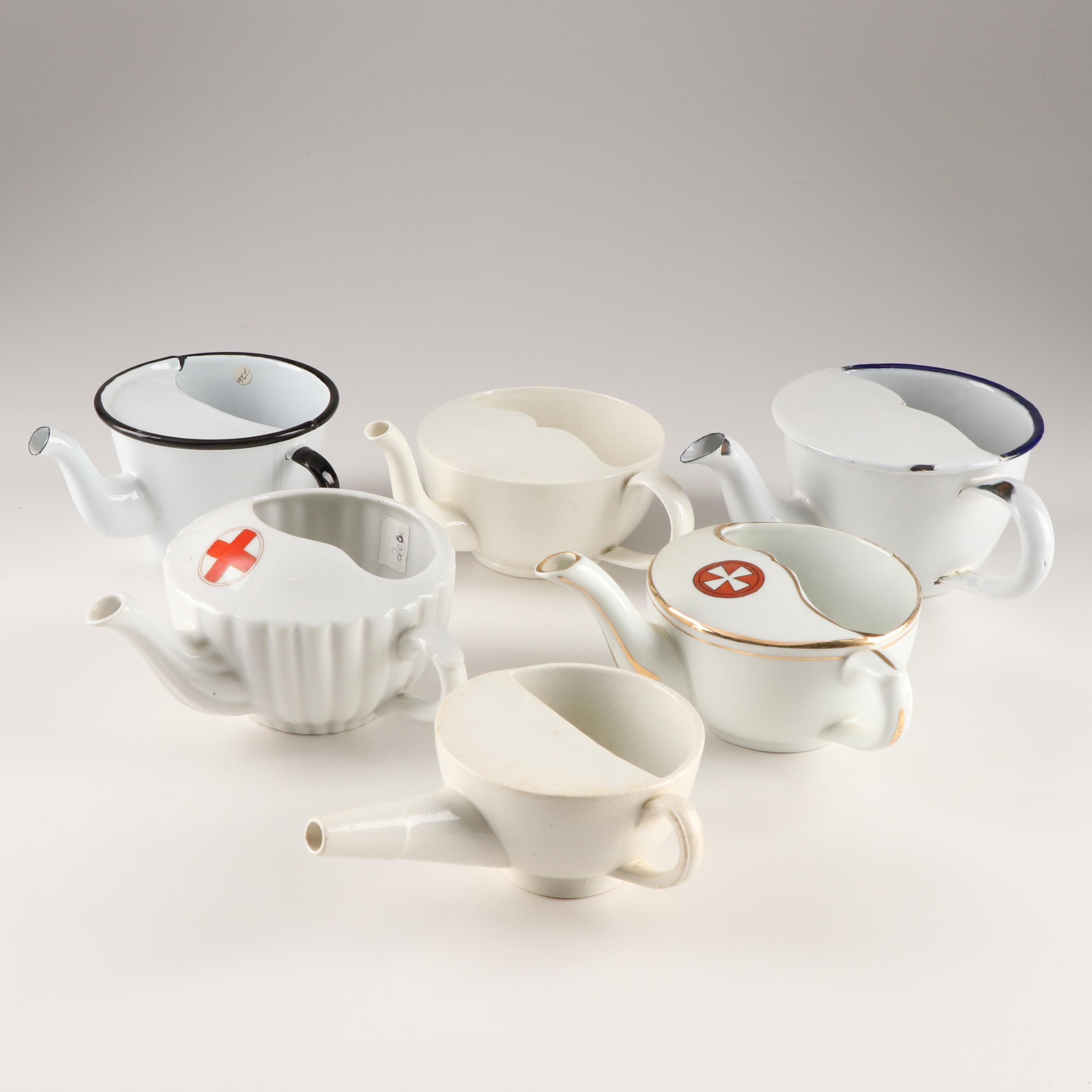 Porcelain and Enameled Feeding Cups