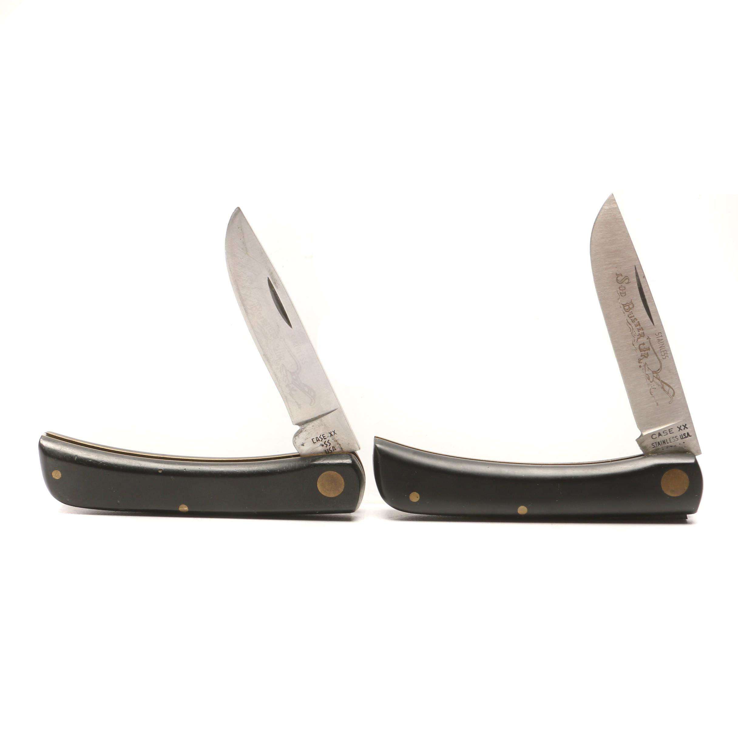 """Two Vintage Case """"2137"""" Folding Pocket Knives"""
