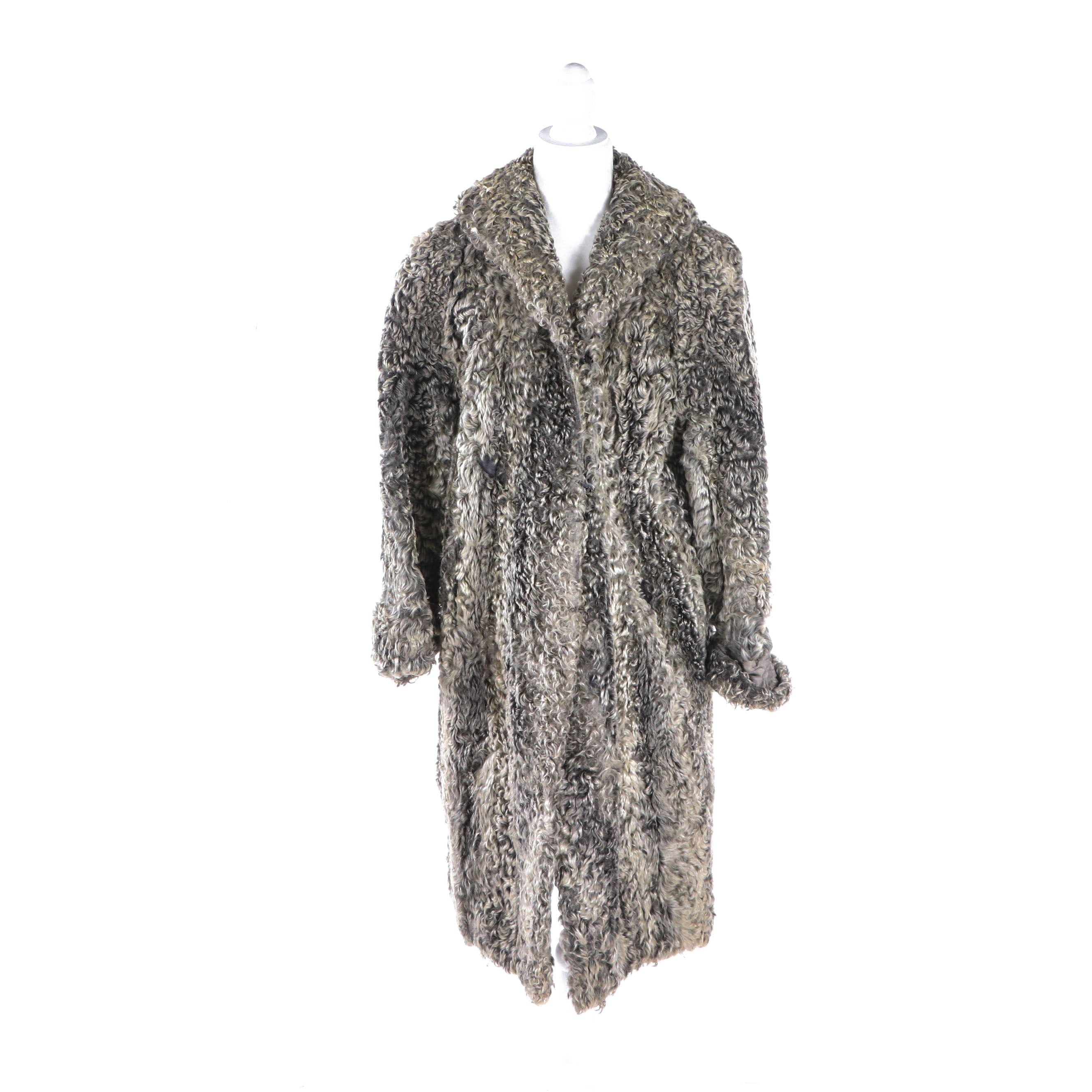 Women's Furs by Freedman Grey Persian Lamb Fur Coat, Vintage
