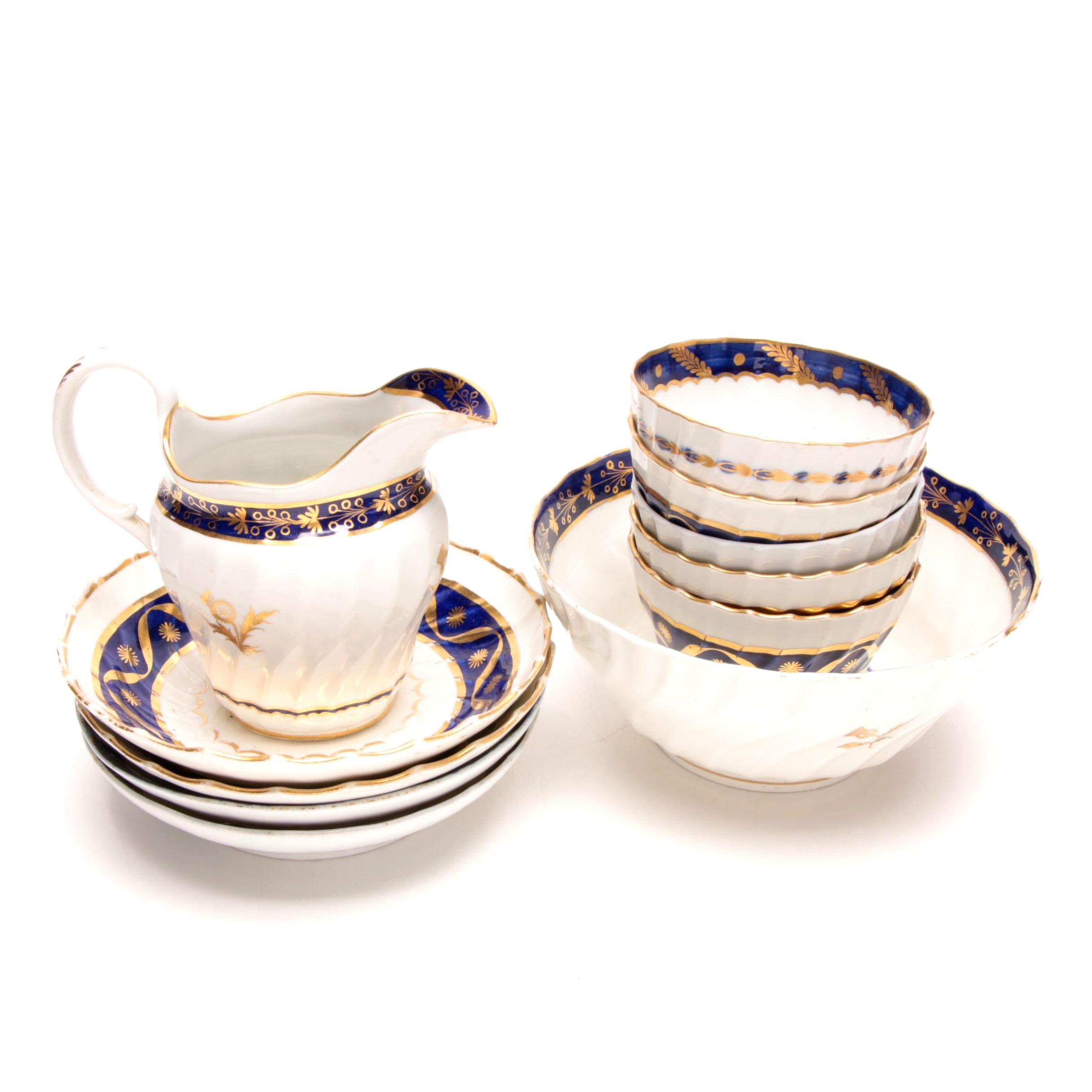 Blue and Gilt Porcelain Tableware