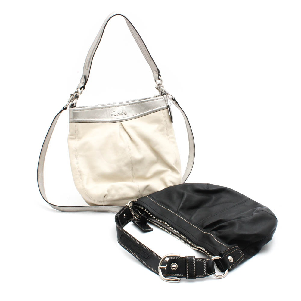 Coach Soho Leather Hobo and Coach Ashley Leather Convertible Handbag