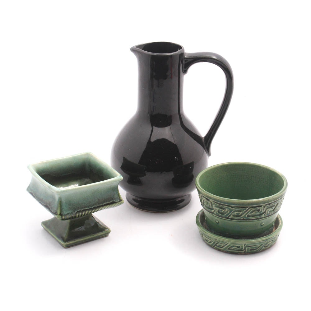 McCoy Pottery Planters and Pitcher, 1940s-1970s